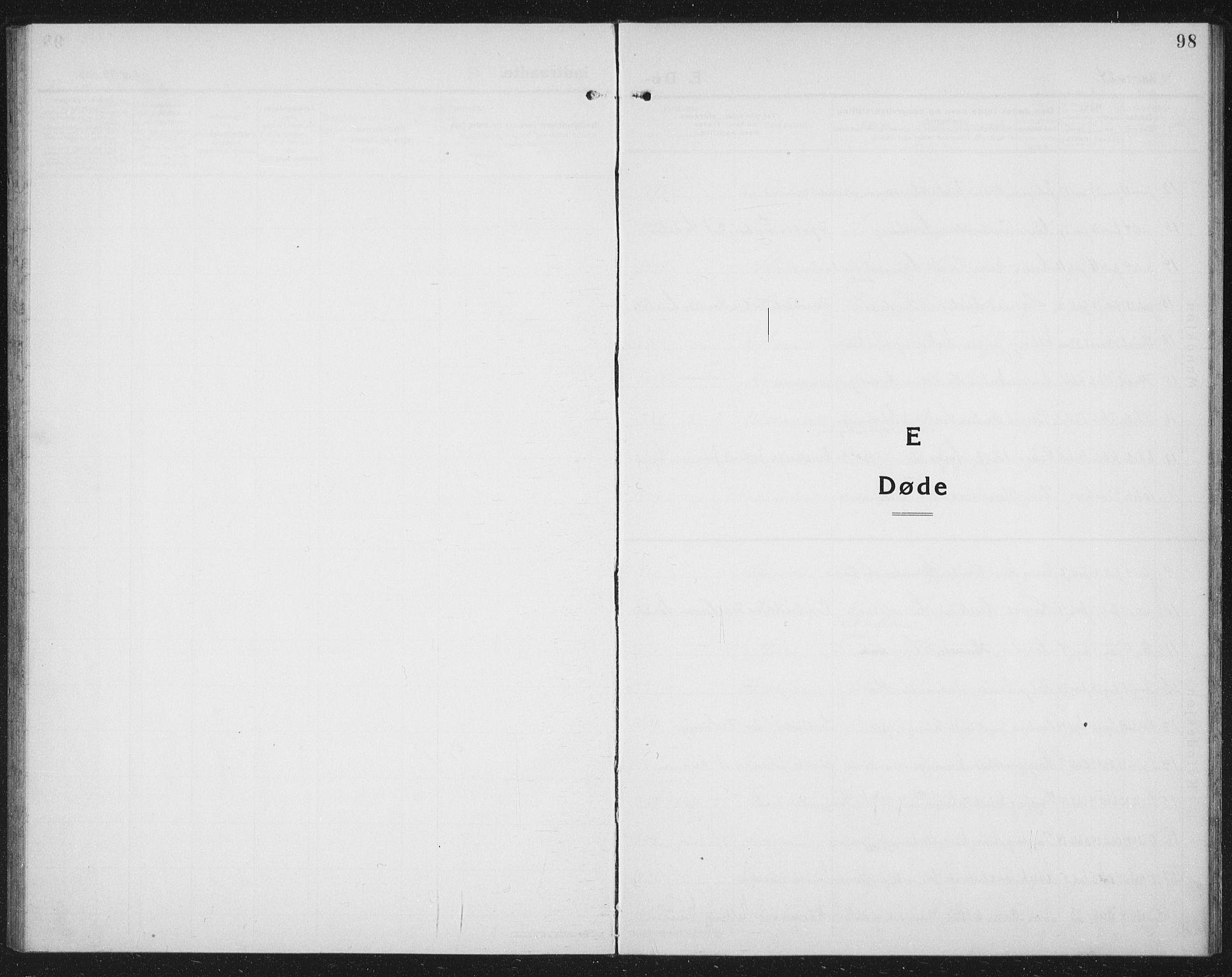 SAT, Ministerialprotokoller, klokkerbøker og fødselsregistre - Nord-Trøndelag, 730/L0303: Parish register (copy) no. 730C06, 1924-1933, p. 98