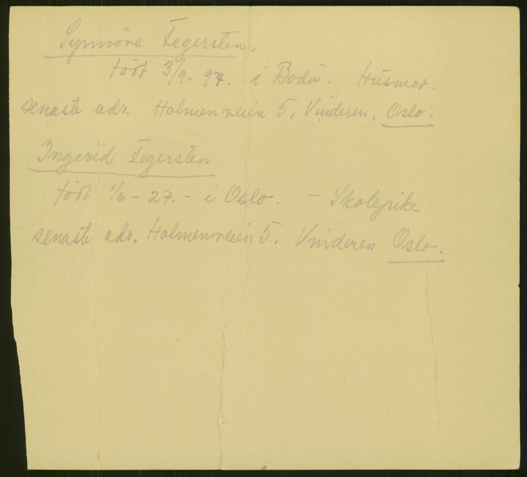 RA, Henry Wennberg, 1943, p. 1