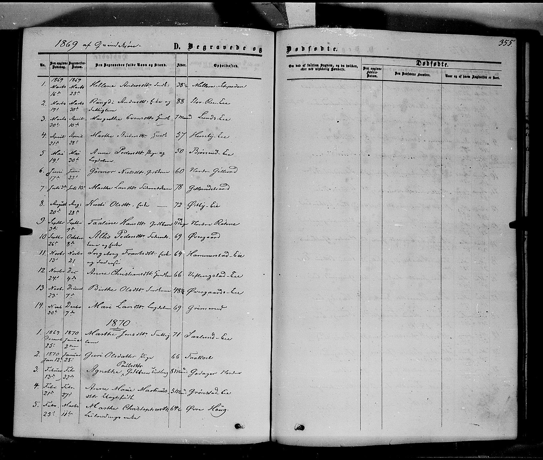 SAH, Stange prestekontor, K/L0013: Parish register (official) no. 13, 1862-1879, p. 355