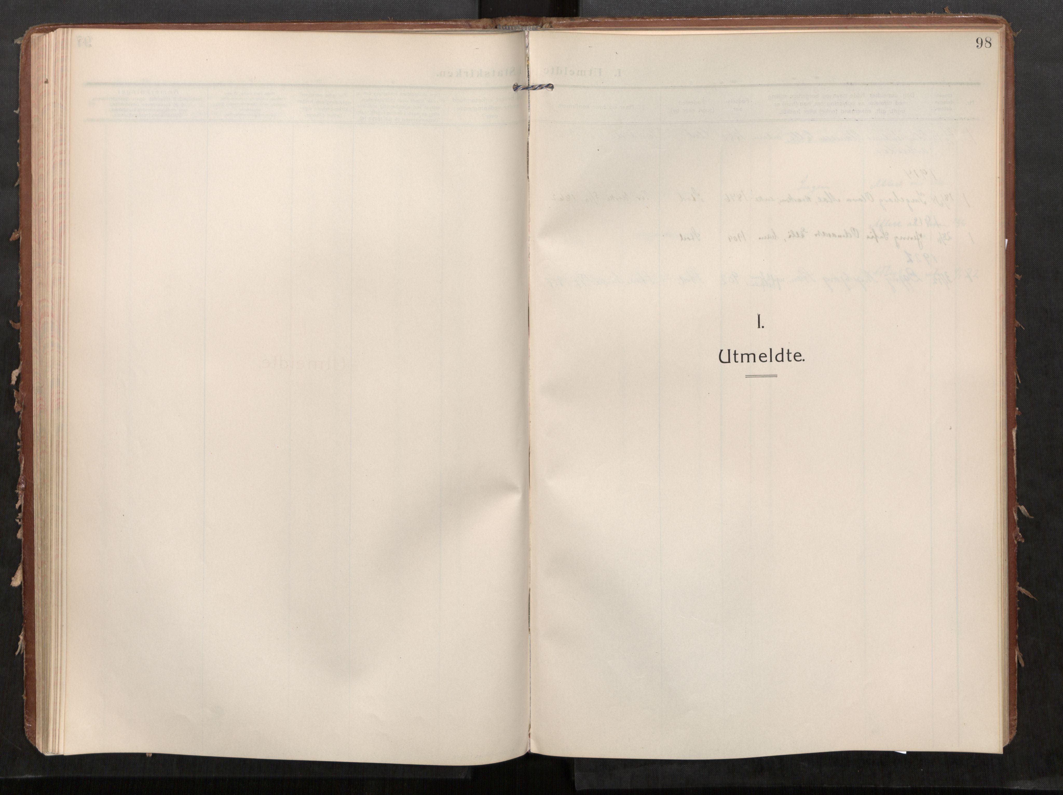 SAT, Stod sokneprestkontor, I/I1/I1a/L0002: Parish register (official) no. 2, 1909-1922, p. 98