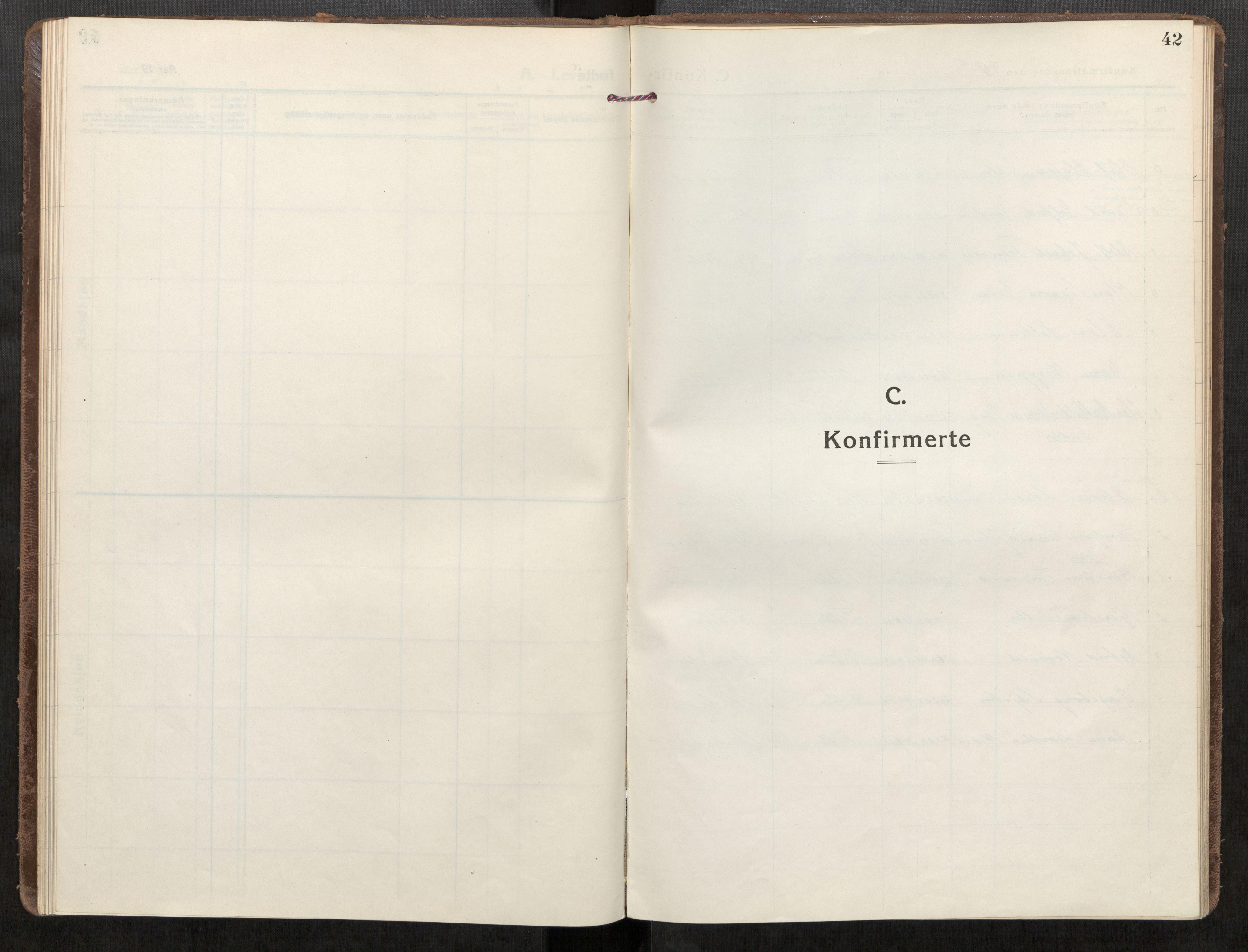 SAT, Klæbu sokneprestkontor, Parish register (official) no. 3, 1917-1924, p. 42