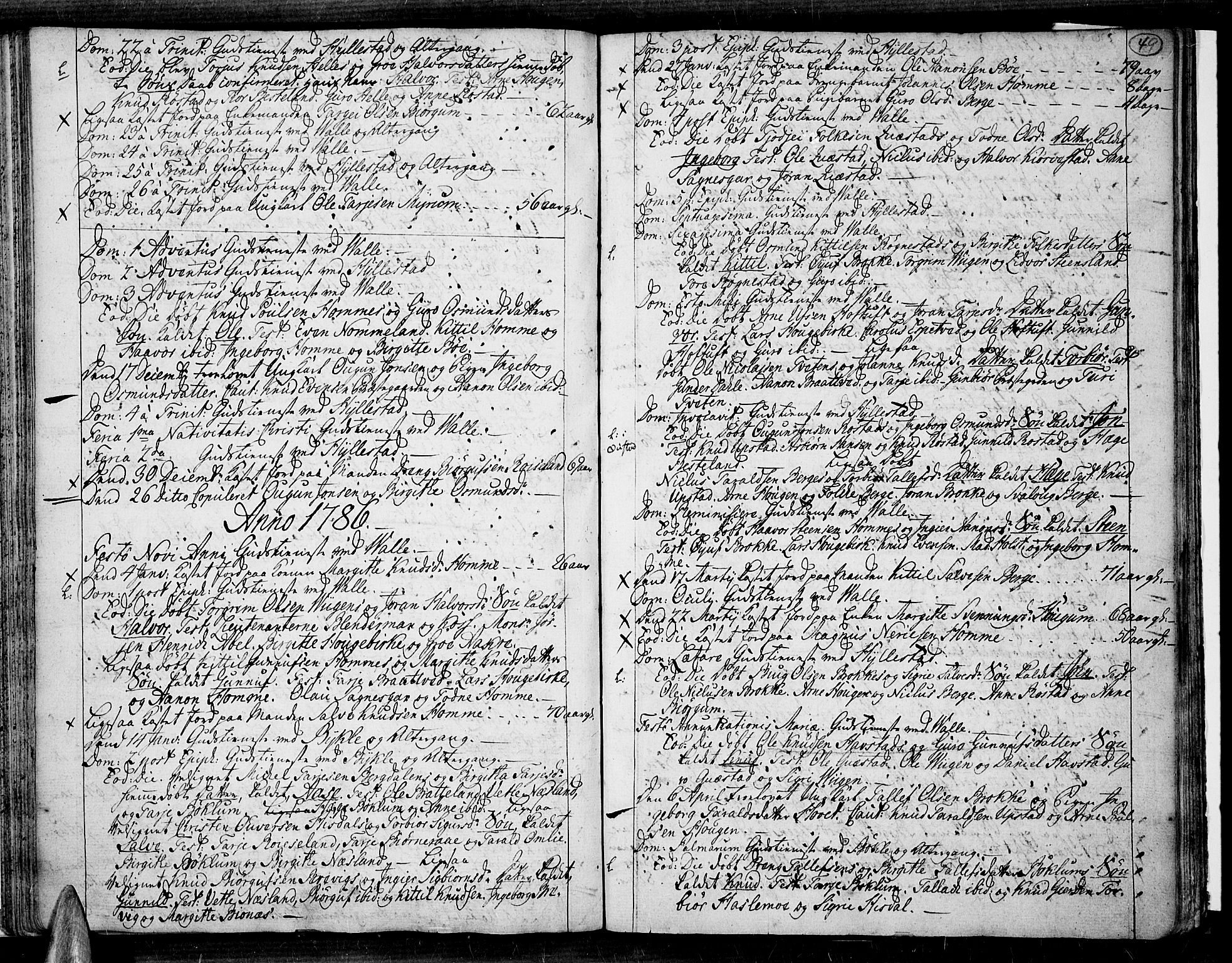 SAK, Valle sokneprestkontor, F/Fa/Fac/L0003: Parish register (official) no. A 3, 1776-1790, p. 49