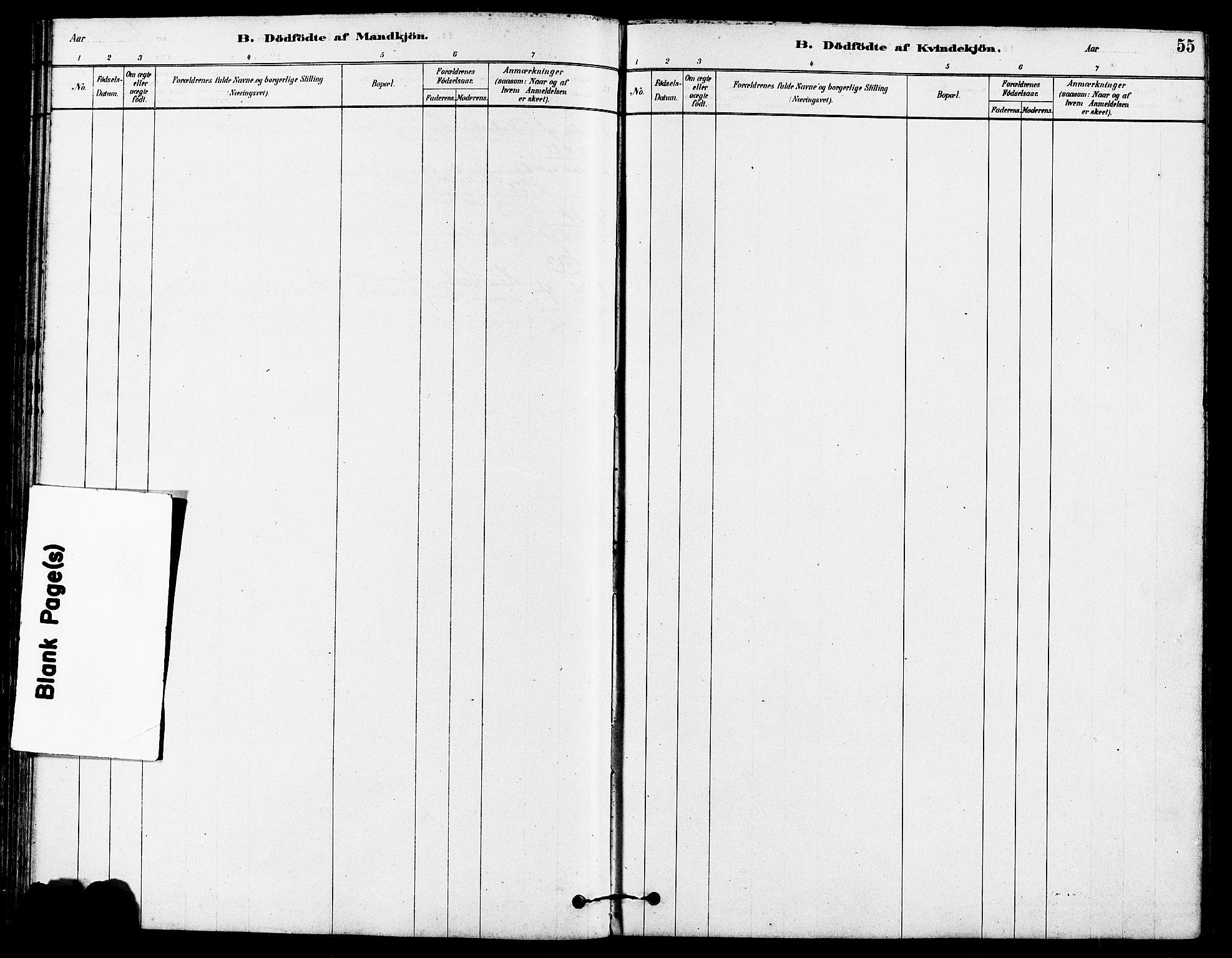 SAST, Høyland sokneprestkontor, 30BA/L0012: Parish register (official) no. A 11, 1878-1889, p. 55