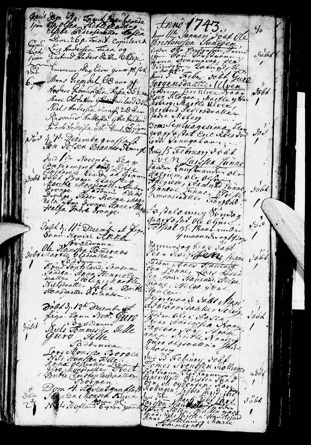 SAB, Os sokneprestembete*, Parish register (official) no. A 2, 1723-1758, p. 56