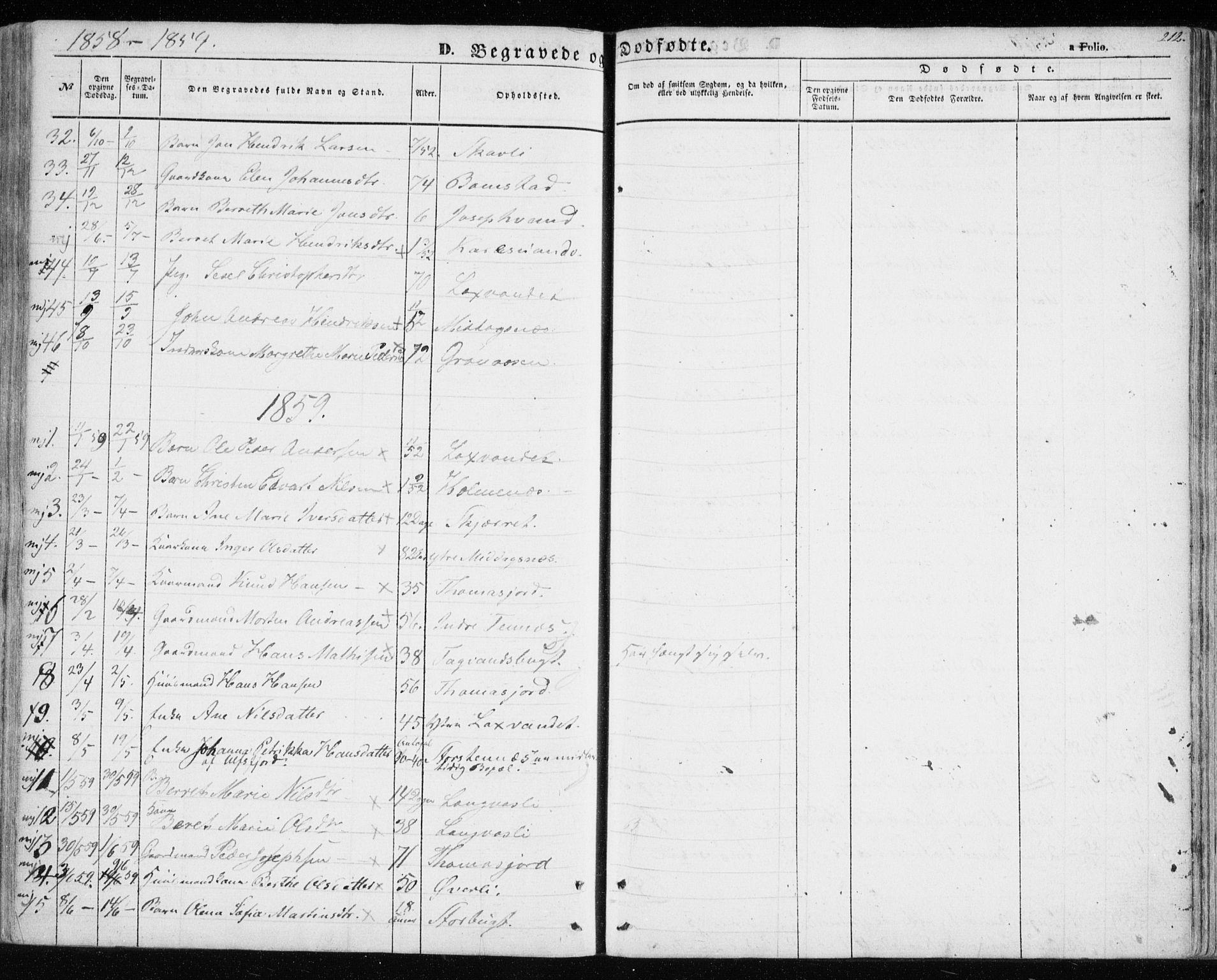 SATØ, Balsfjord sokneprestembete, Parish register (official) no. 3, 1856-1870, p. 212