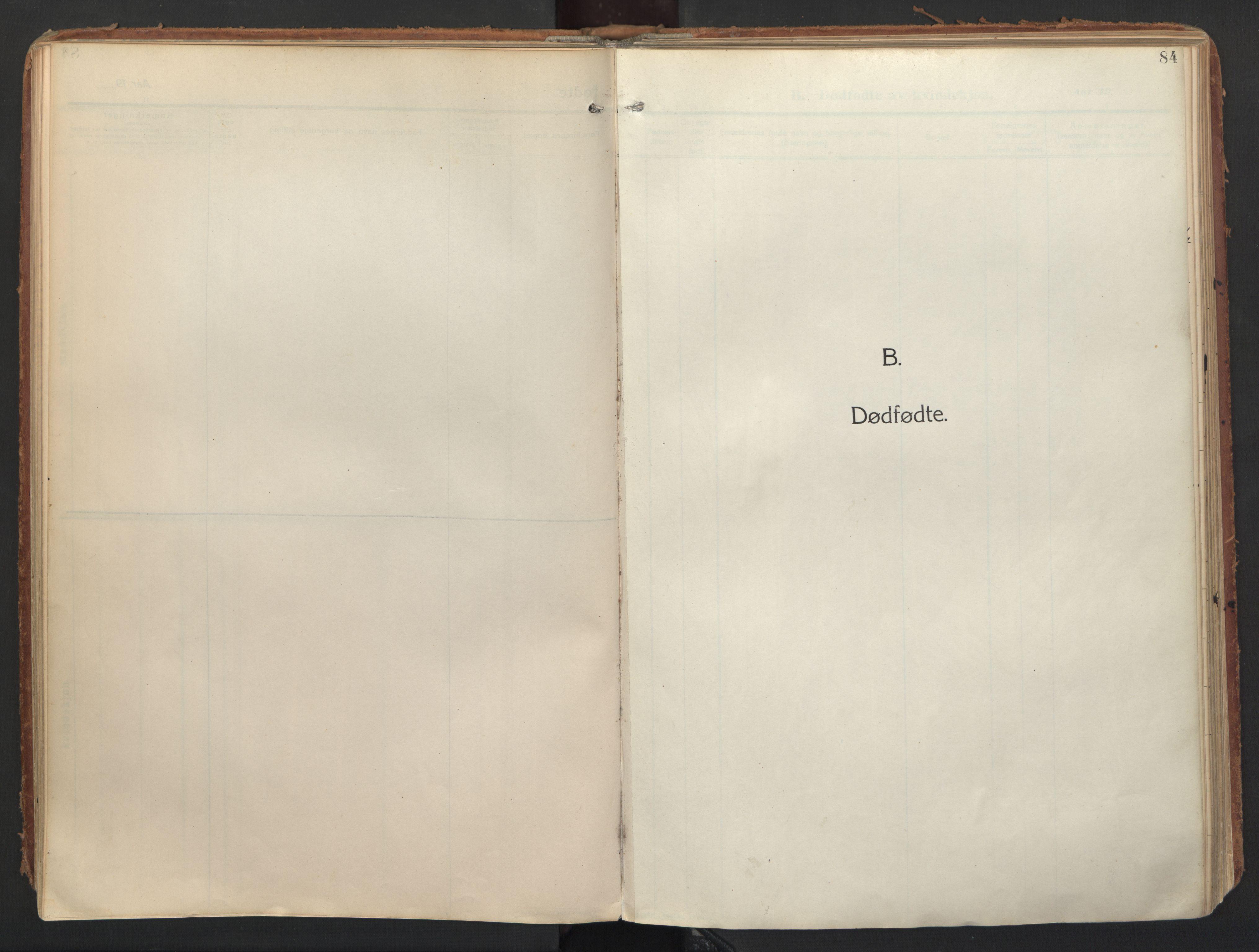 SATØ, Balsfjord sokneprestembete, Parish register (official) no. 8, 1910-1927, p. 84