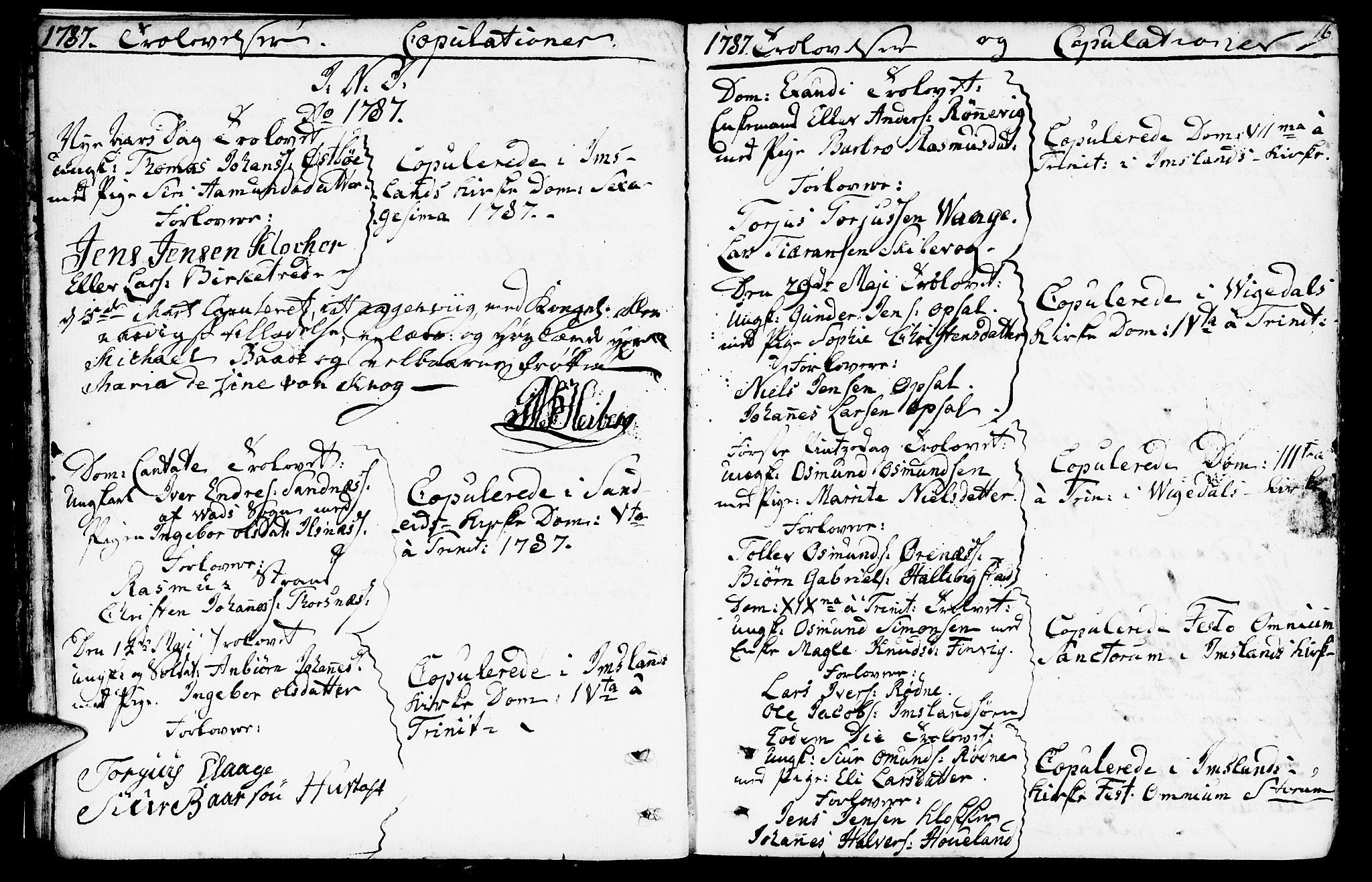 SAST, Vikedal sokneprestkontor, IV: Parish register (official) no. A 2, 1779-1817, p. 16