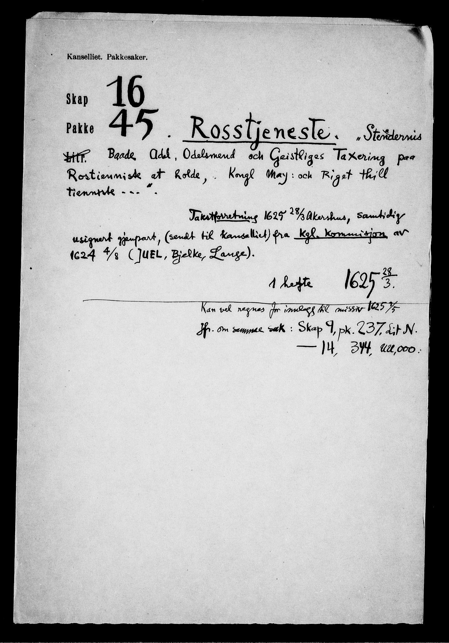 RA, Danske Kanselli, Skapsaker, F/L0116: Skap 16, pakke 42-47, 1625-1717, p. 219