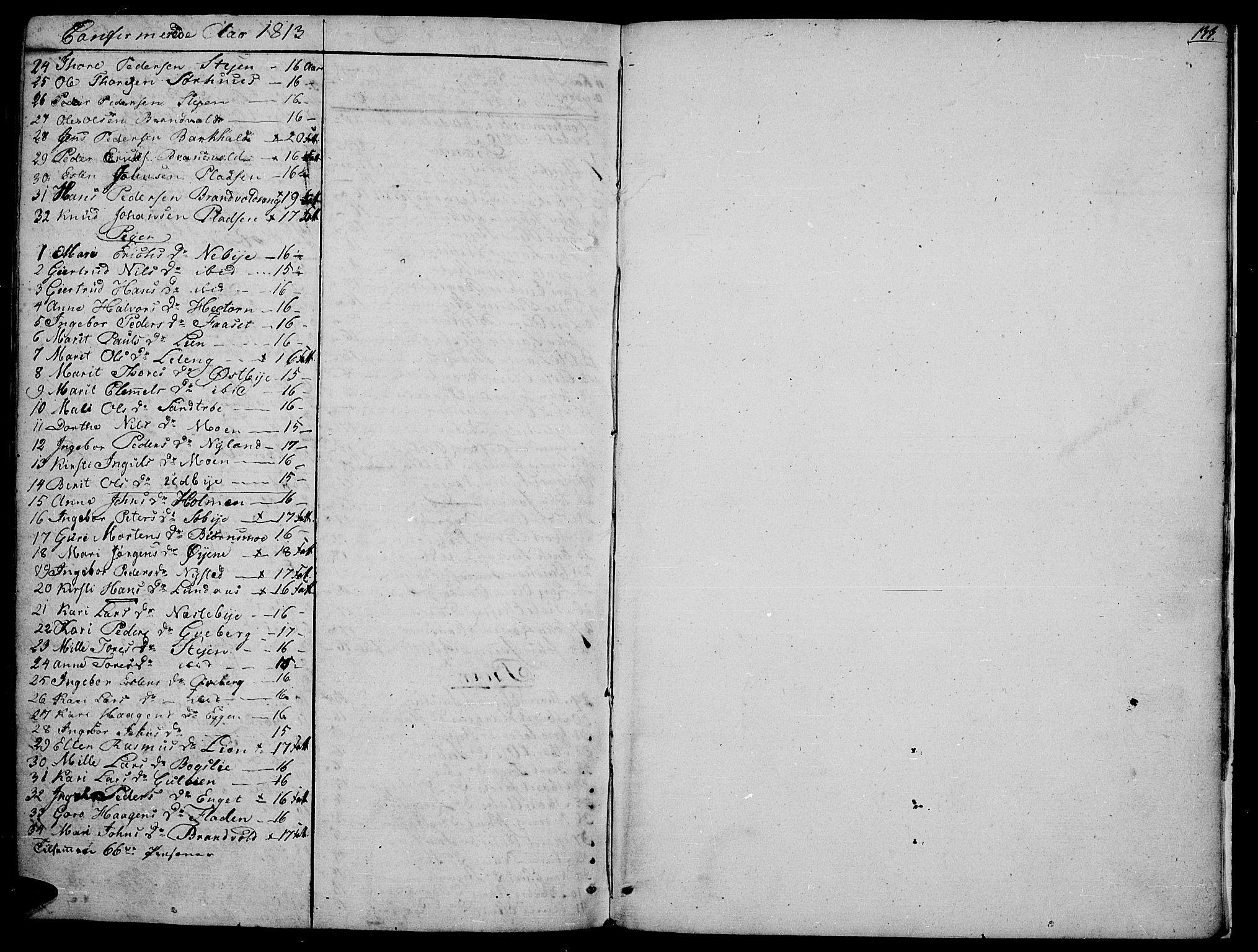 SAH, Tynset prestekontor, Parish register (official) no. 16, 1801-1814, p. 133