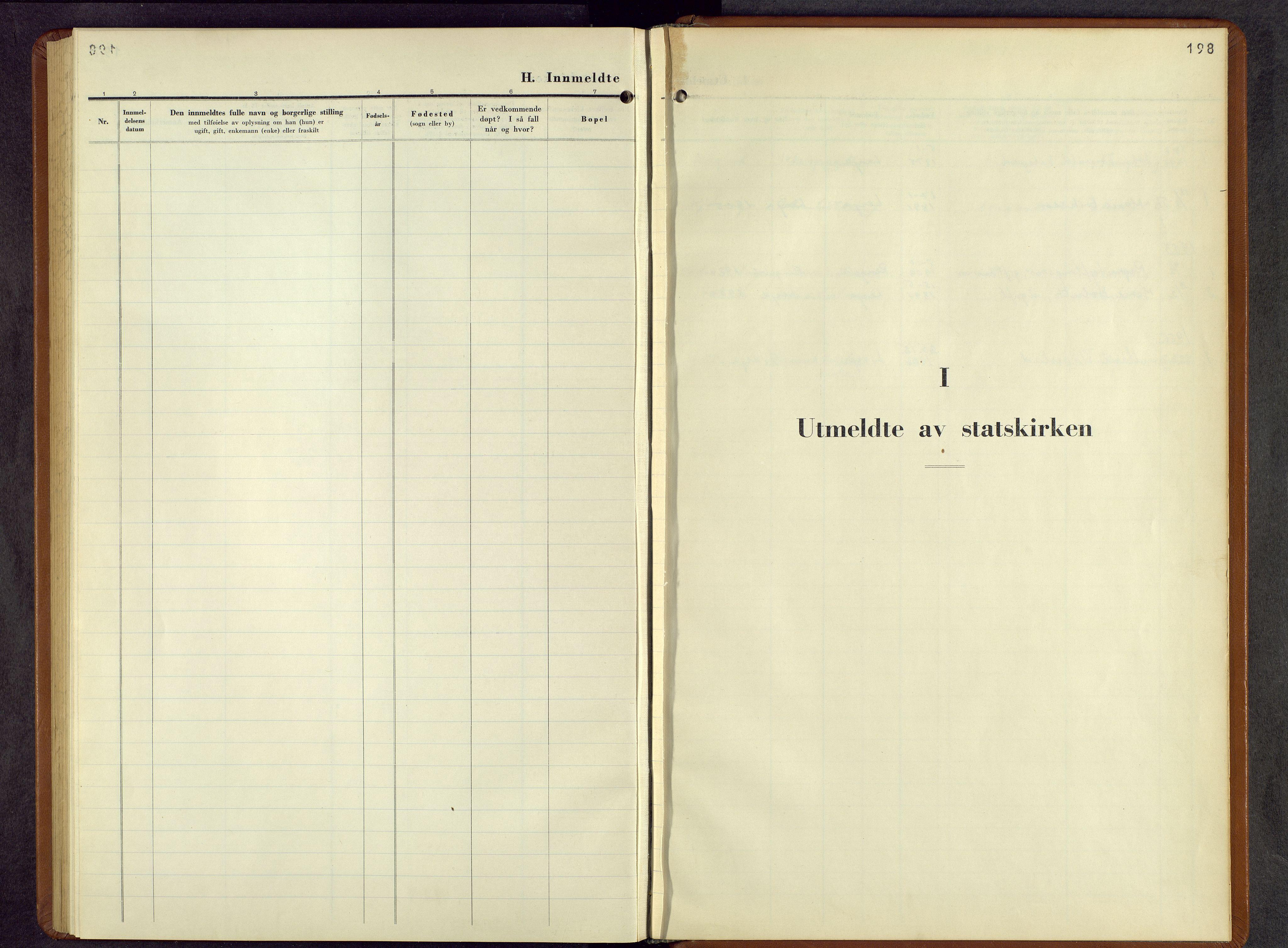 SAH, Lesja prestekontor, Parish register (copy) no. 10, 1925-1960, p. 198