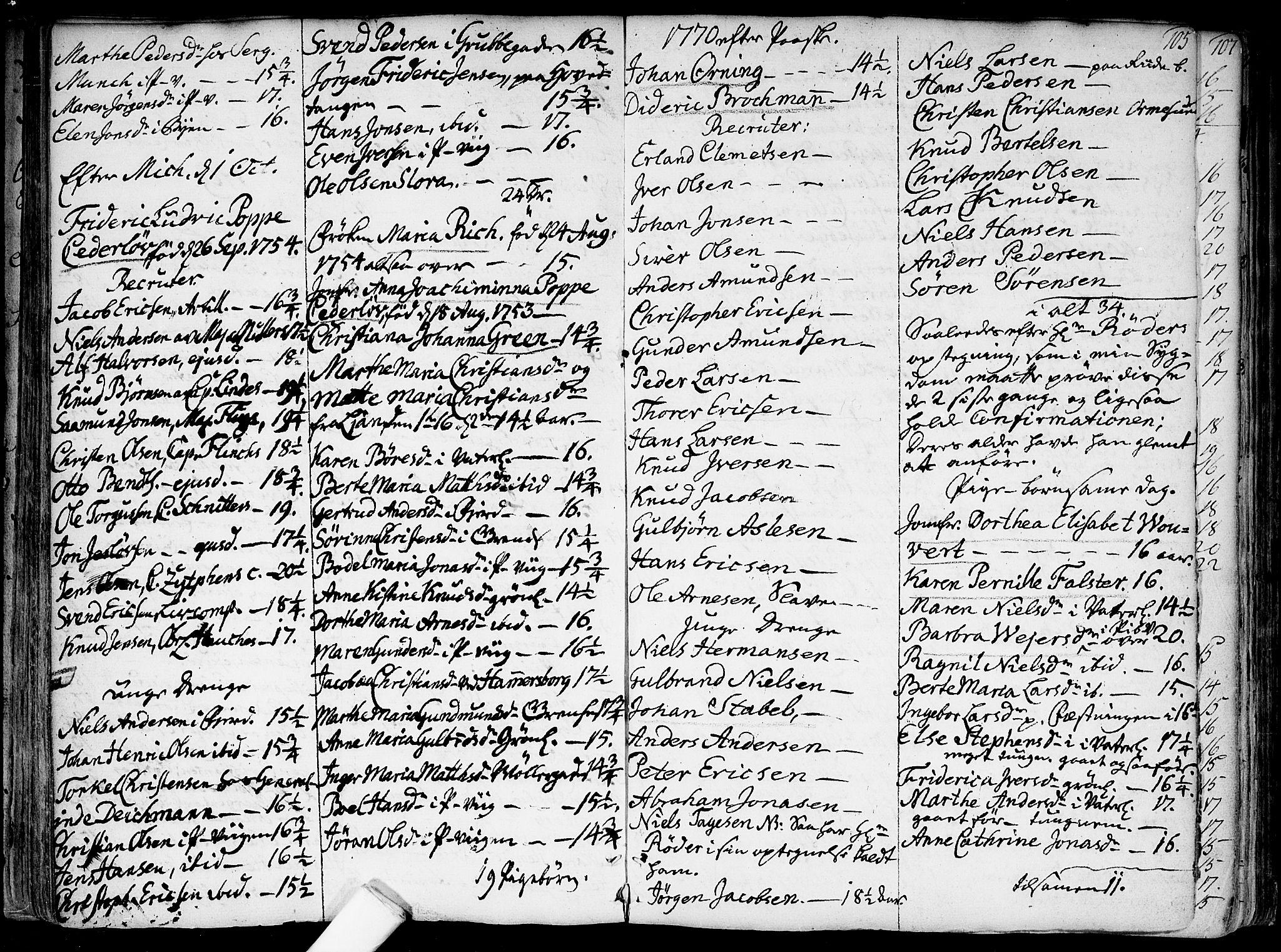 SAO, Garnisonsmenigheten Kirkebøker, F/Fa/L0002: Parish register (official) no. 2, 1757-1776, p. 105