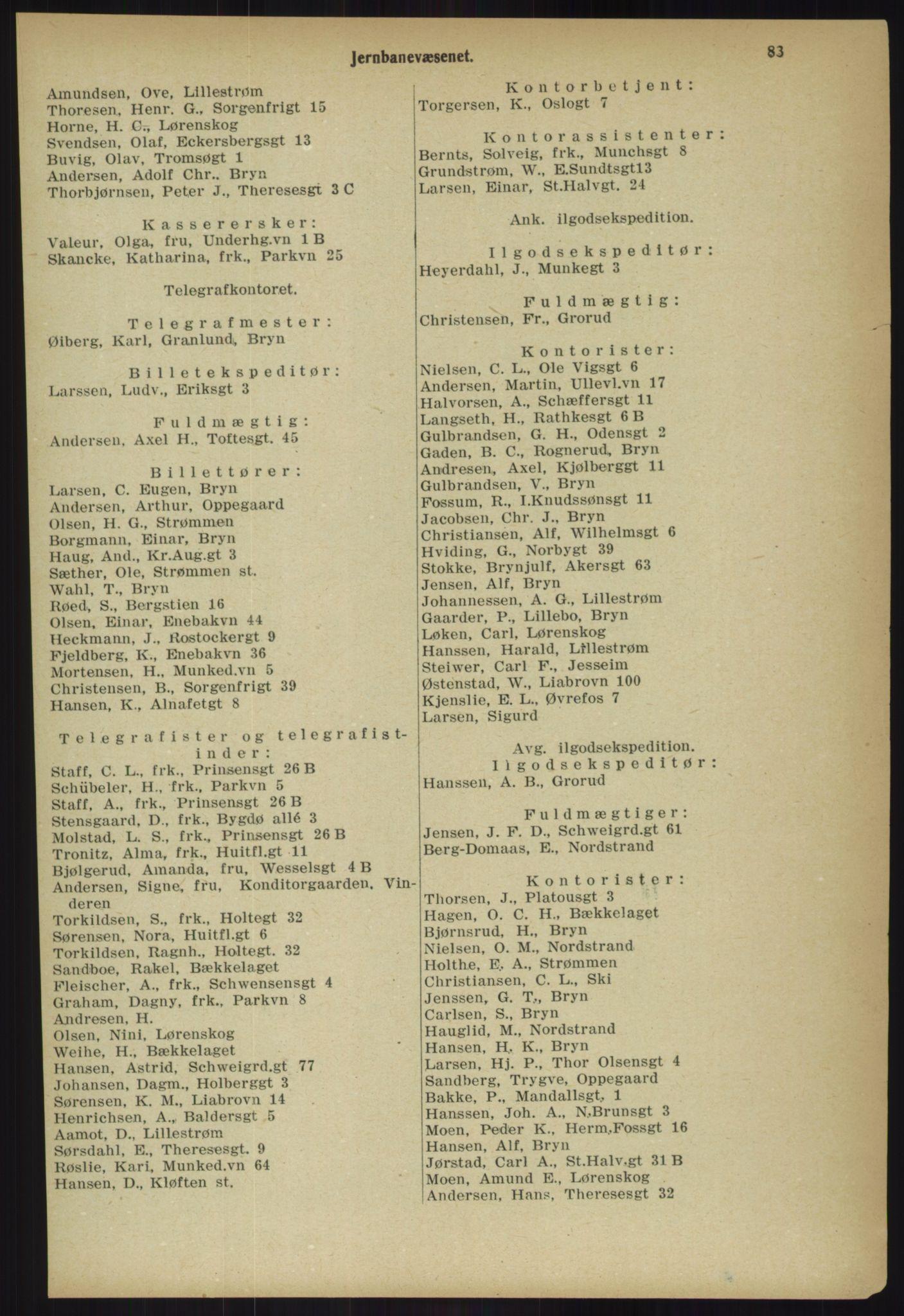 PUBL, Kristiania/Oslo adressebok, 1918, p. 90