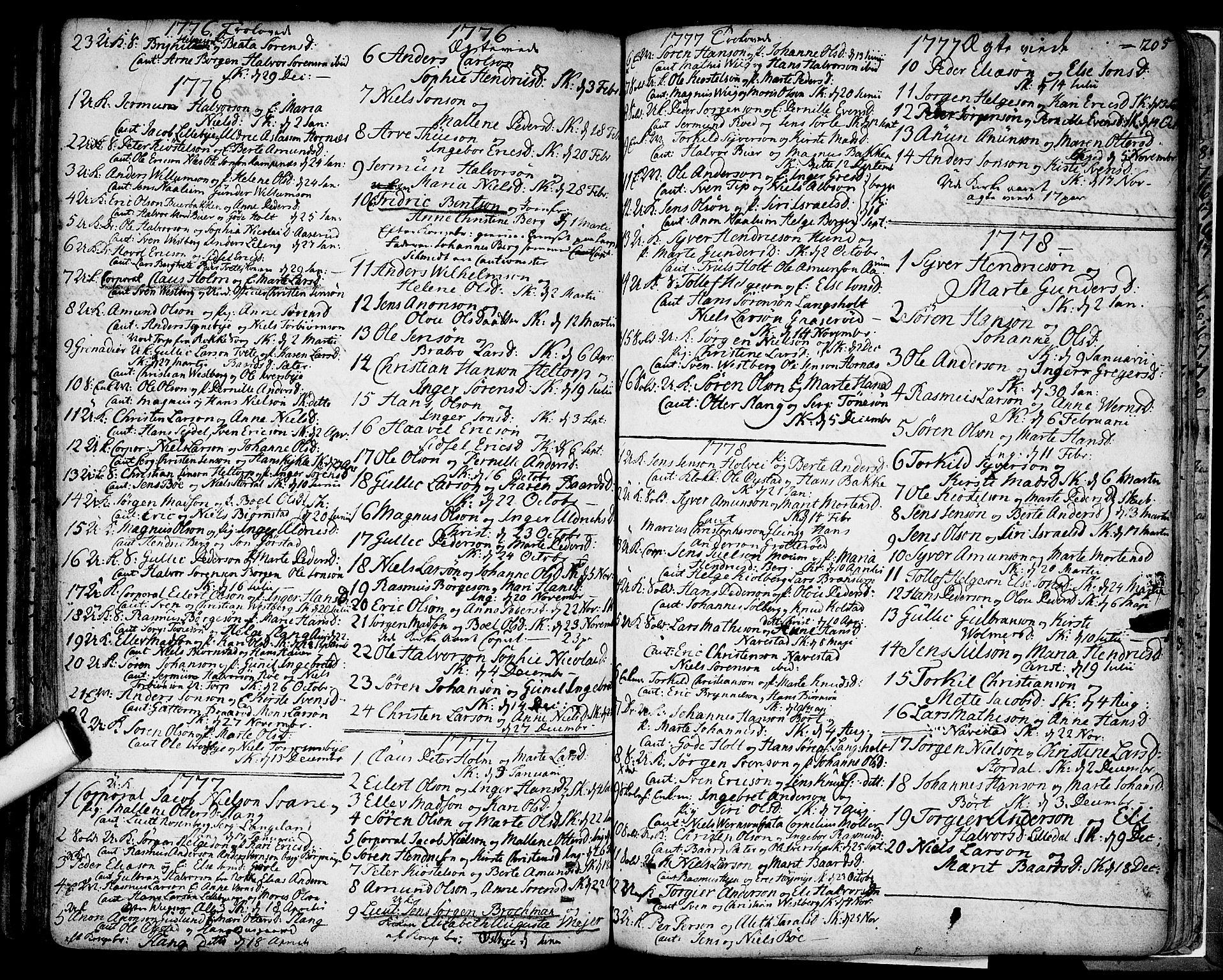 SAO, Skjeberg prestekontor Kirkebøker, F/Fa/L0002: Parish register (official) no. I 2, 1726-1791, p. 205