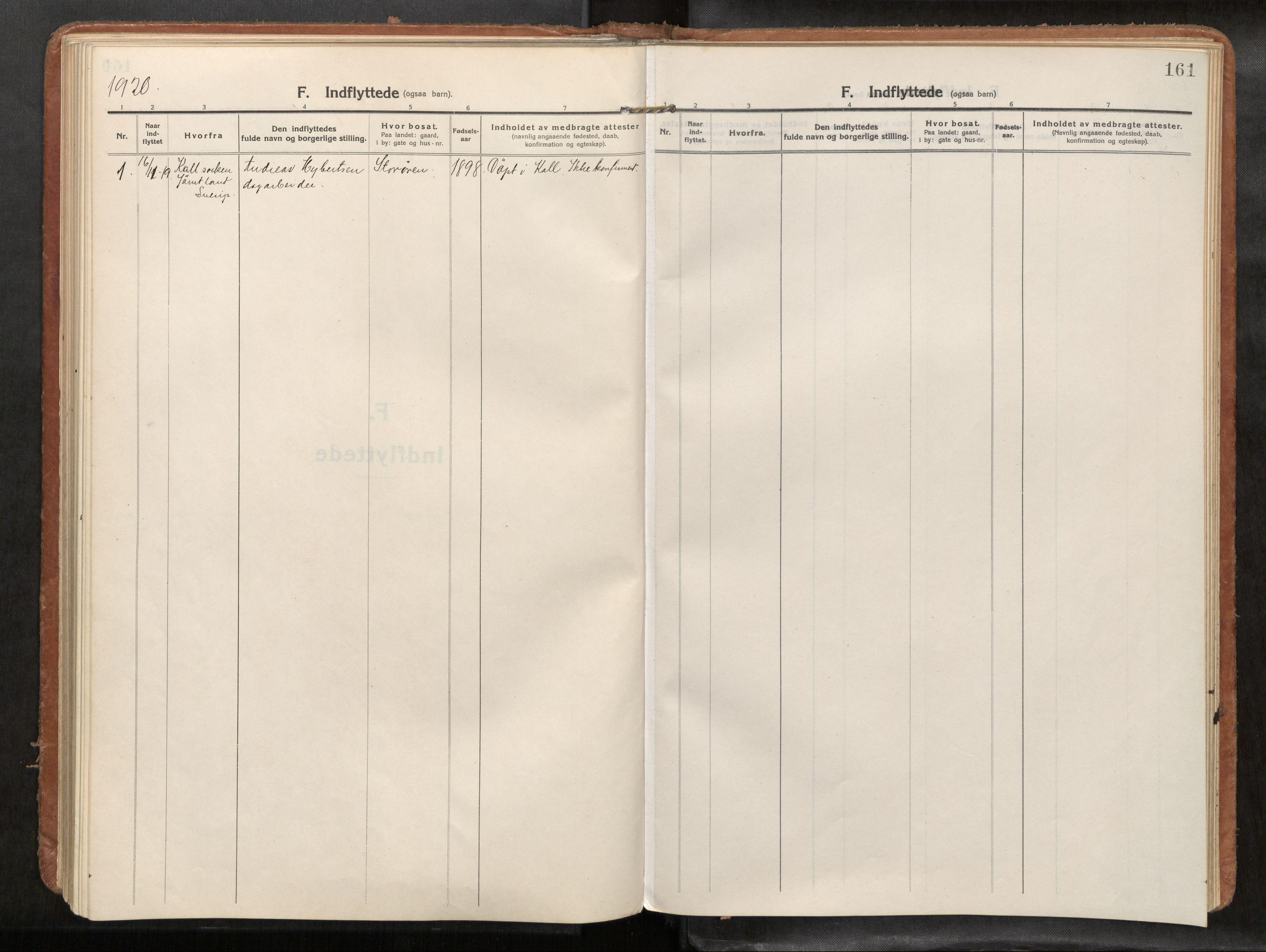 SAT, Verdal sokneprestkontor*, Parish register (official) no. 1, 1916-1928, p. 161