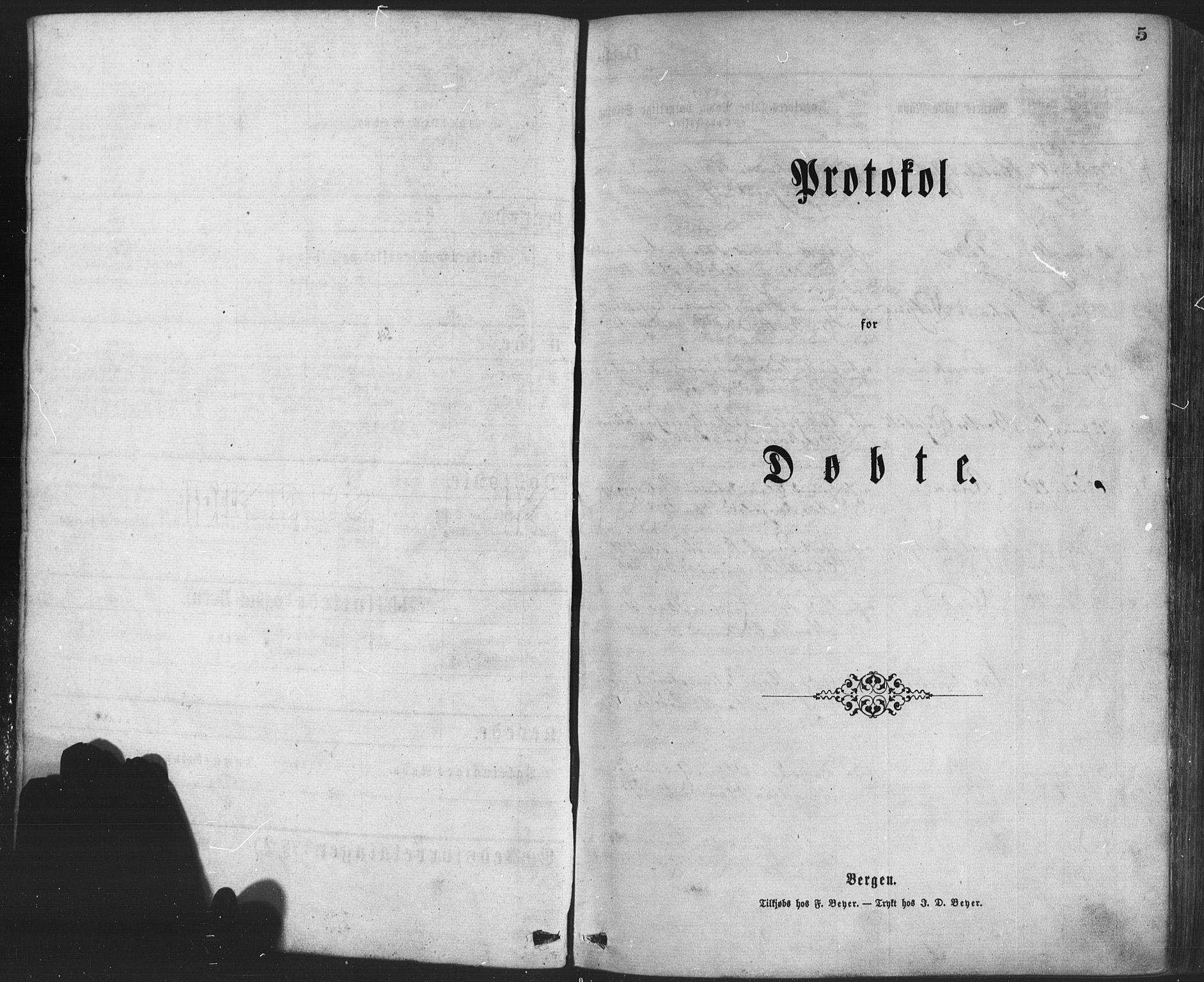 SAB, Os sokneprestembete*, Parish register (official) no. A 18, 1874-1884, p. 5