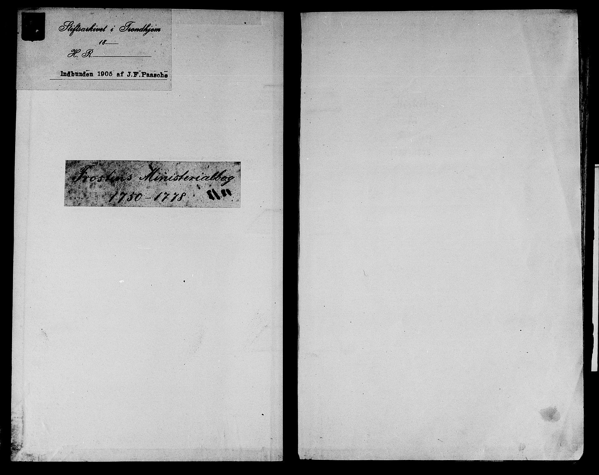 SAT, Ministerialprotokoller, klokkerbøker og fødselsregistre - Nord-Trøndelag, 713/L0109: Parish register (official) no. 713A01, 1750-1778