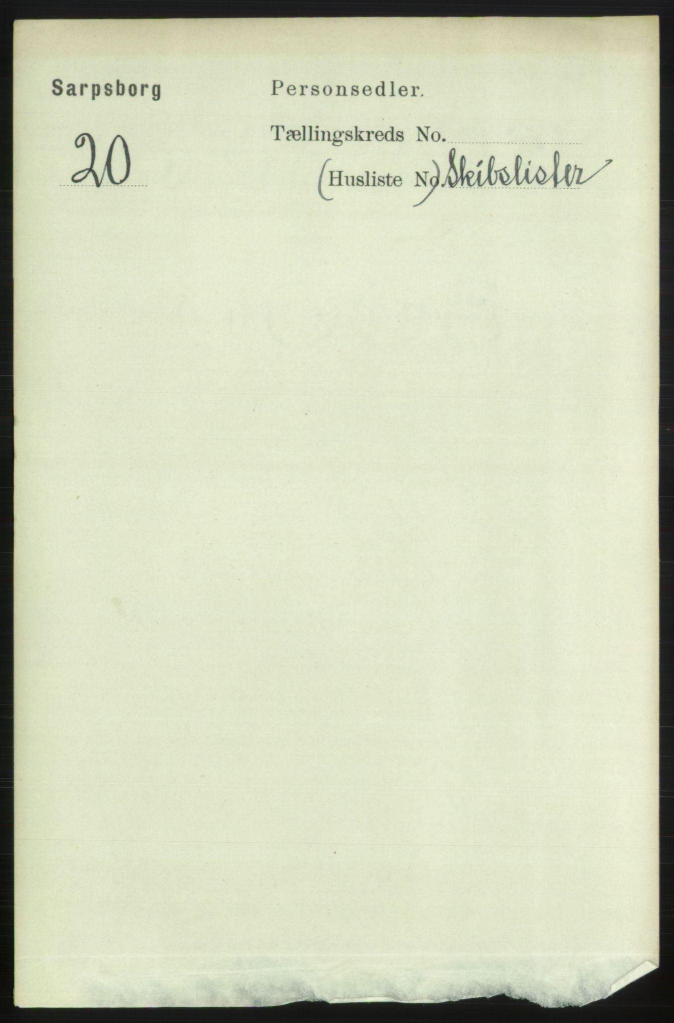 RA, 1891 census for 0102 Sarpsborg, 1891, p. 3679