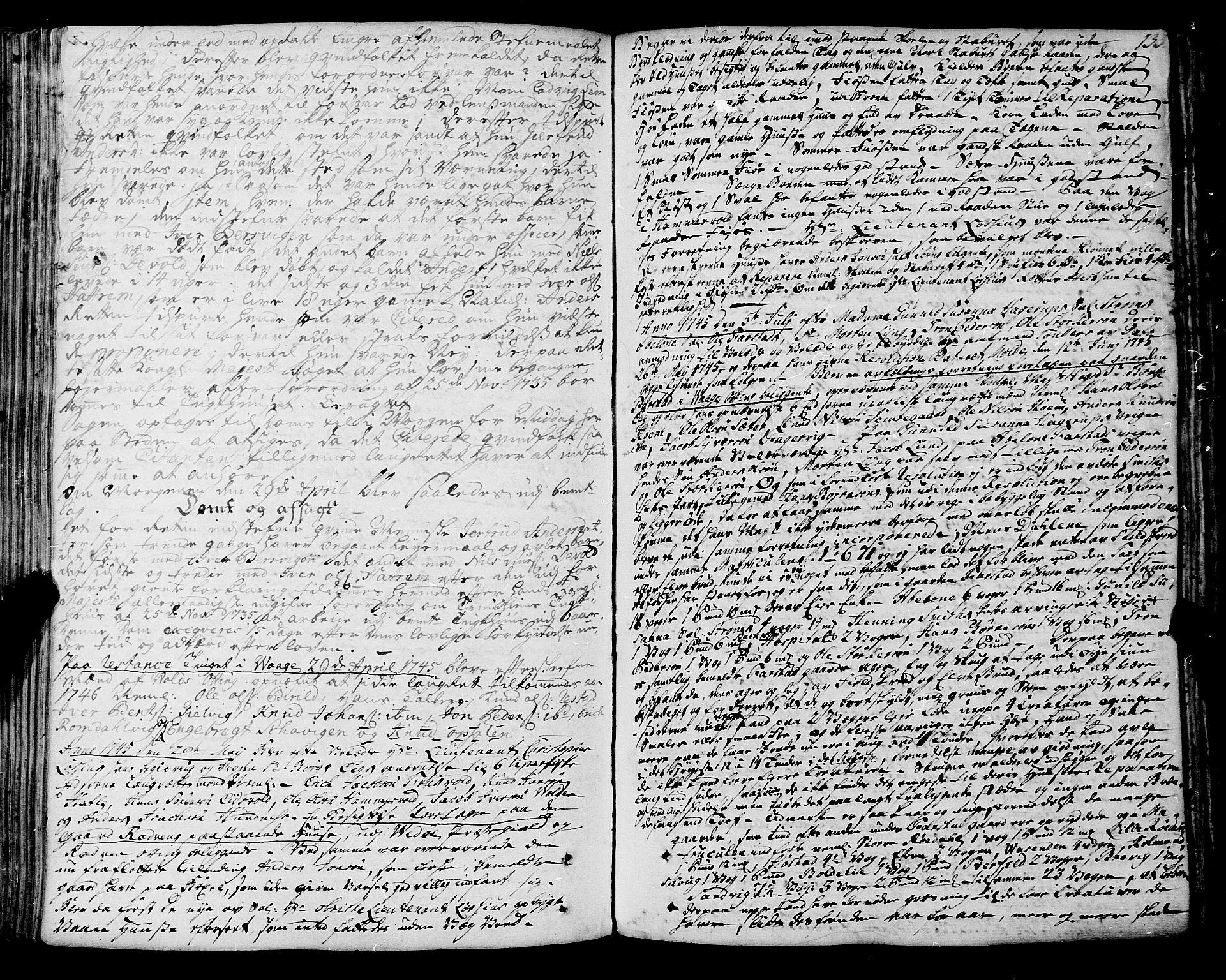 SAT, Romsdal sorenskriveri, 1/1A/L0012: Tingbok, 1740-1749, p. 132b-133a