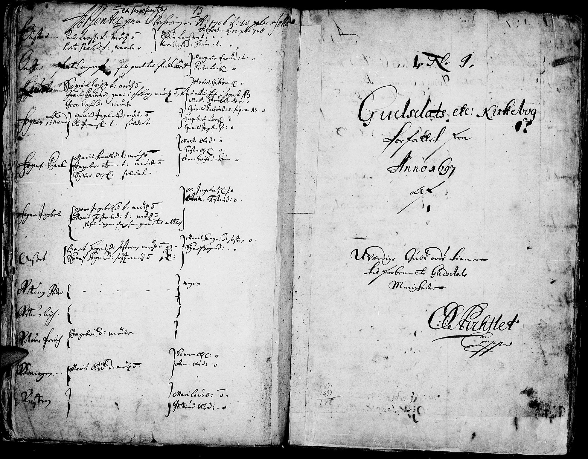 SAH, Gausdal prestekontor, Parish register (official) no. 1, 1693-1728, p. 13
