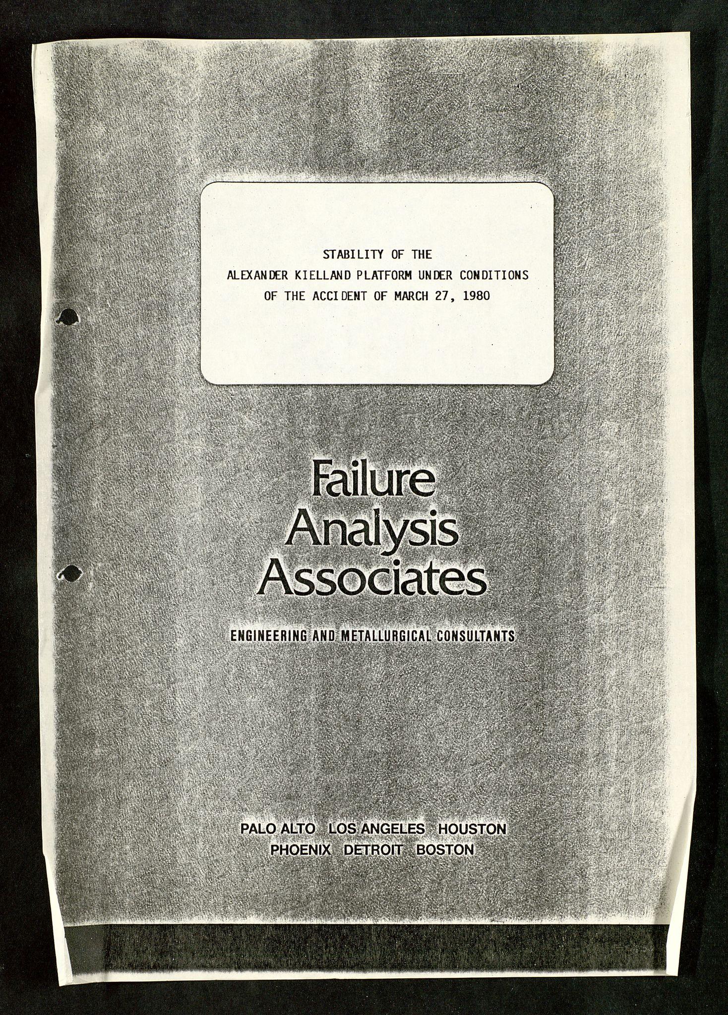 SAST, Pa 1503 - Stavanger Drilling AS, Da/L0008: Alexander L. Kielland - Rettssak i Paris, 1983-1989