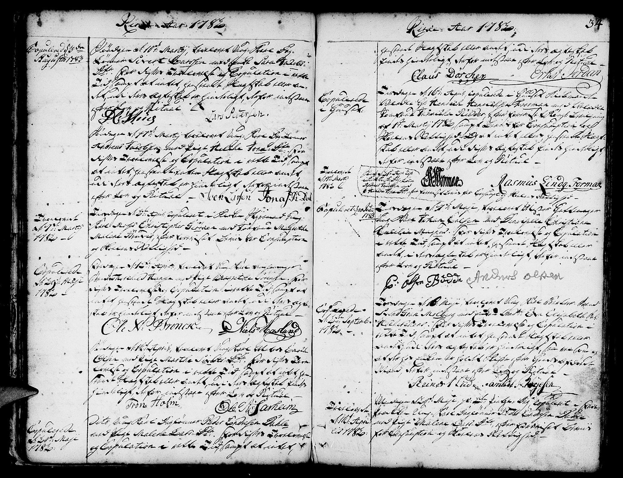 SAB, Nykirken Sokneprestembete, H/Haa: Parish register (official) no. A 8, 1776-1814, p. 35
