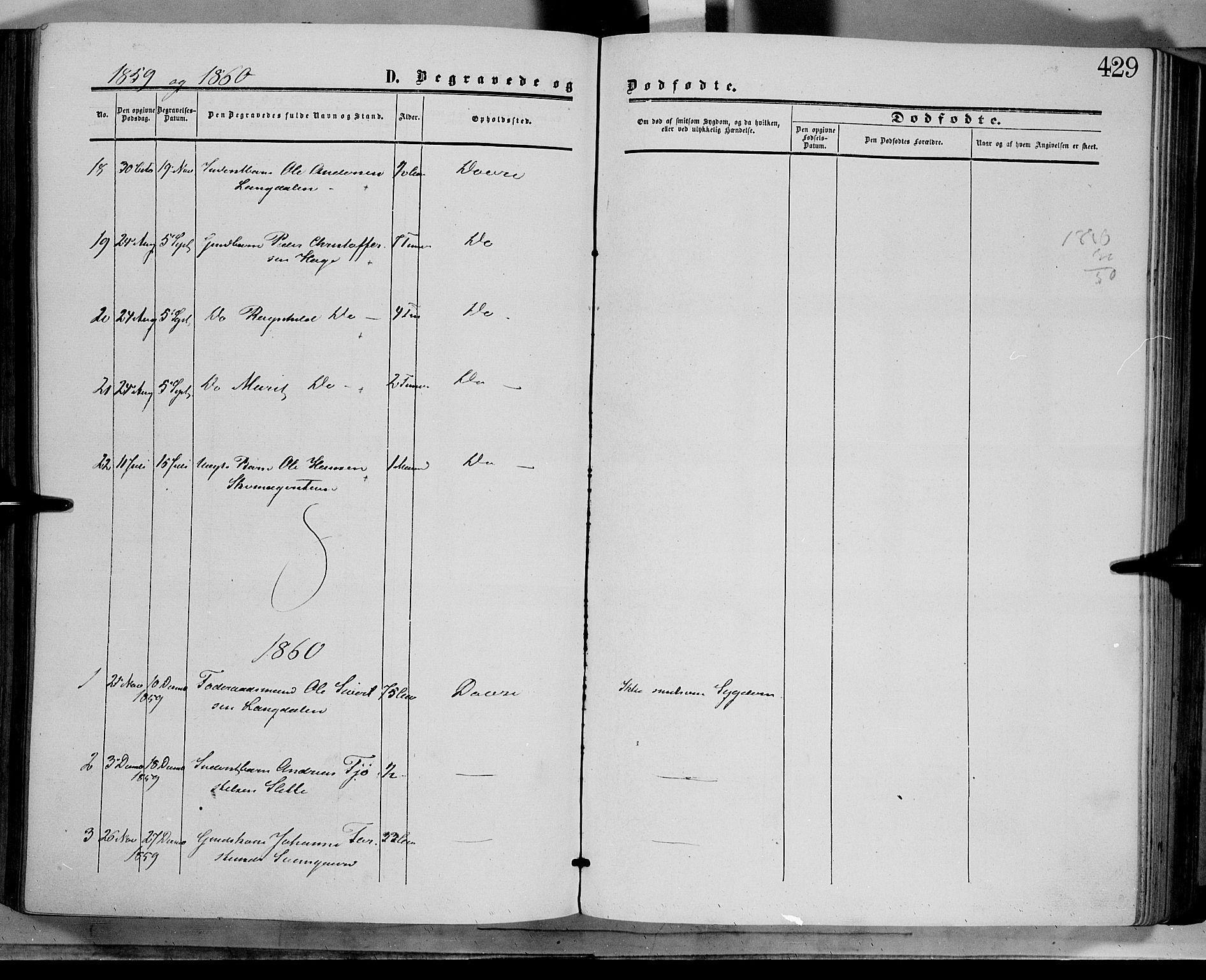 SAH, Dovre prestekontor, Parish register (official) no. 1, 1854-1878, p. 429