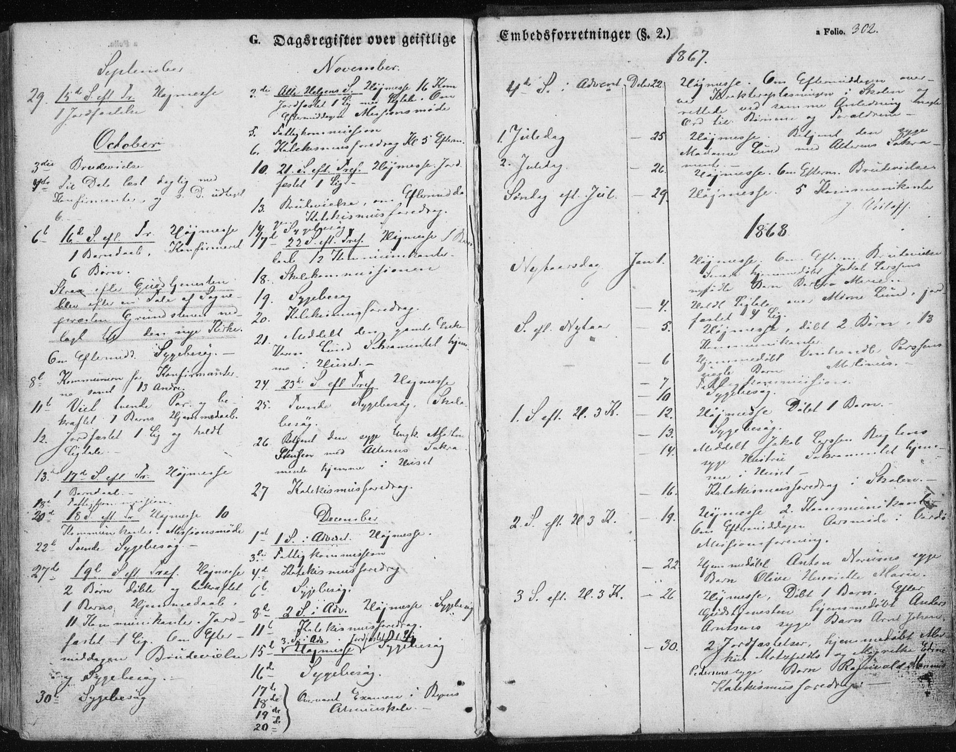SATØ, Vardø sokneprestkontor, H/Ha/L0004kirke: Parish register (official) no. 4, 1862-1871, p. 302