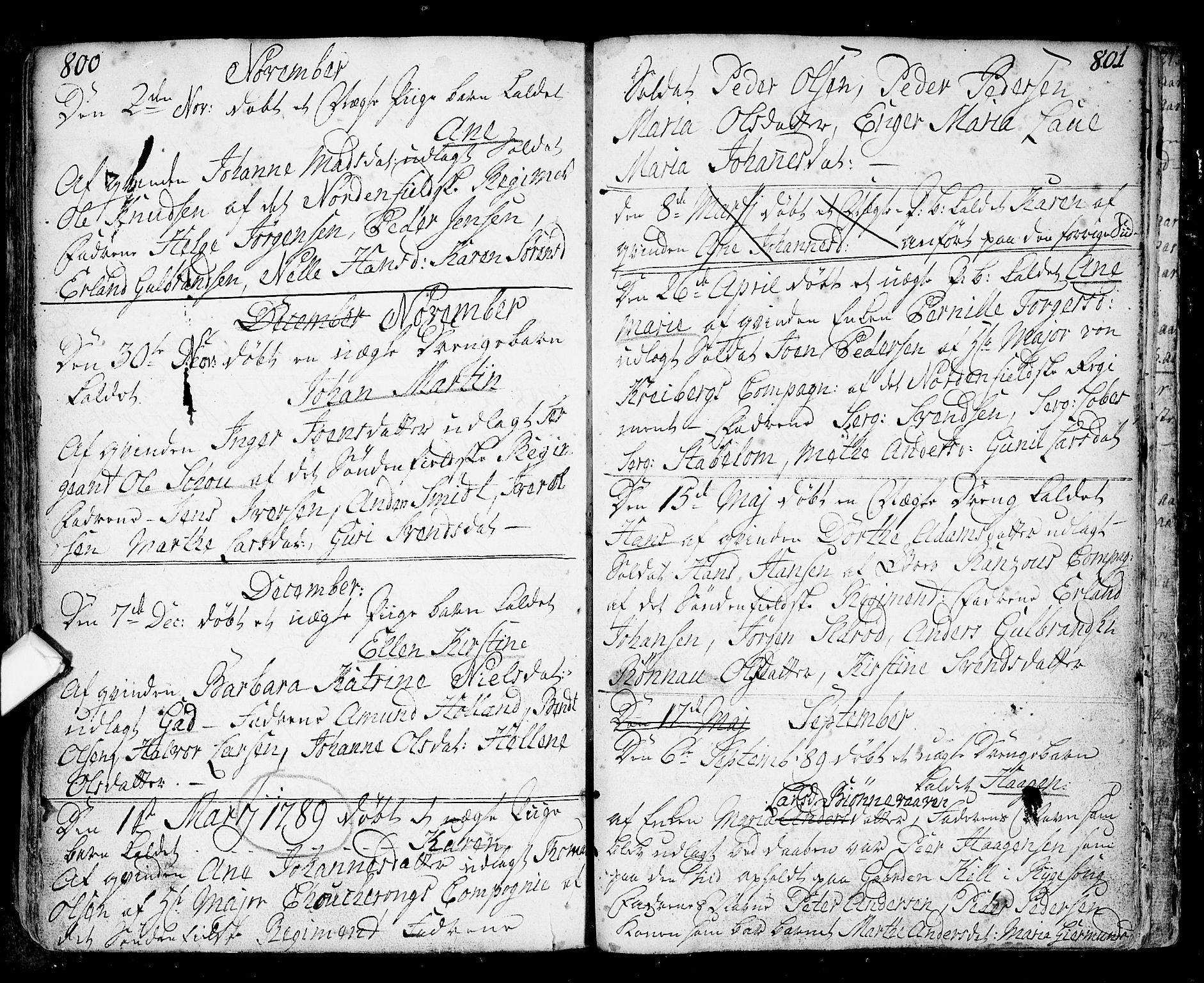 SAO, Fredrikstad prestekontor Kirkebøker, F/Fa/L0002: Parish register (official) no. 2, 1750-1804, p. 800-801