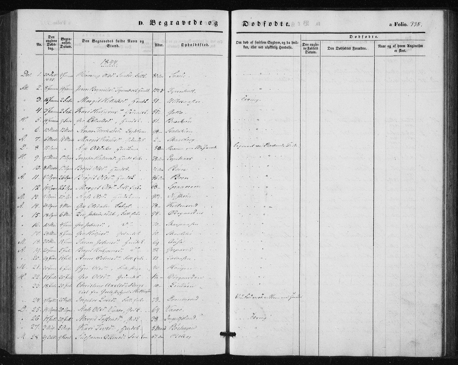 SAKO, Tinn kirkebøker, F/Fa/L0005: Parish register (official) no. I 5, 1844-1856, p. 338