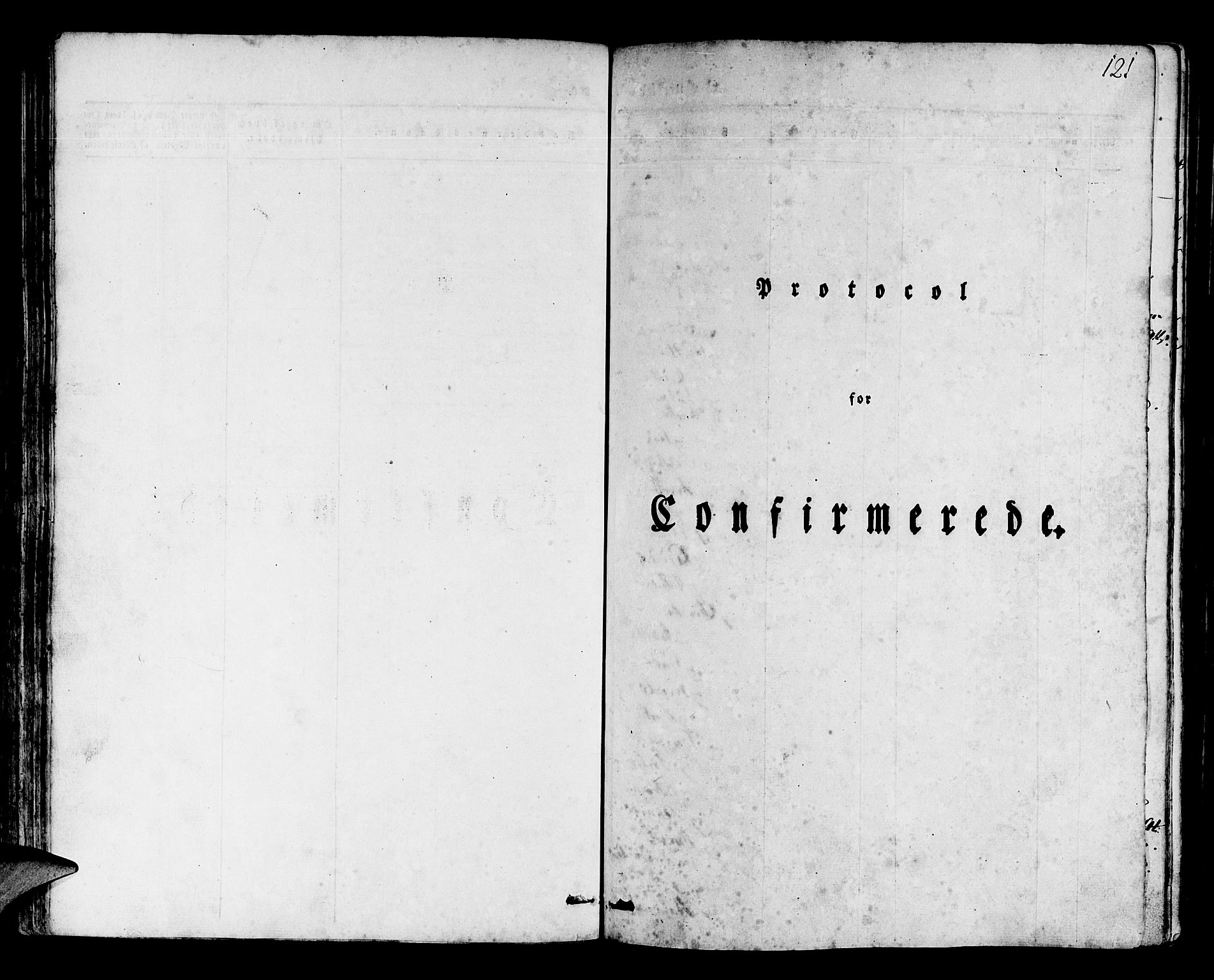 SAB, Os sokneprestembete*, Parish register (official) no. A 14, 1826-1839, p. 121
