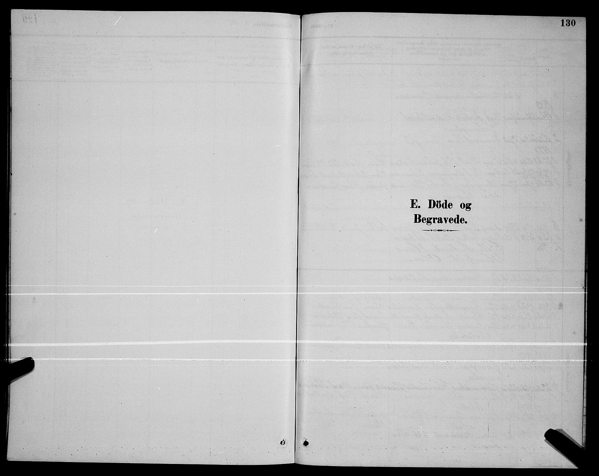 SAT, Ministerialprotokoller, klokkerbøker og fødselsregistre - Nordland, 803/L0076: Parish register (copy) no. 803C03, 1882-1897, p. 130