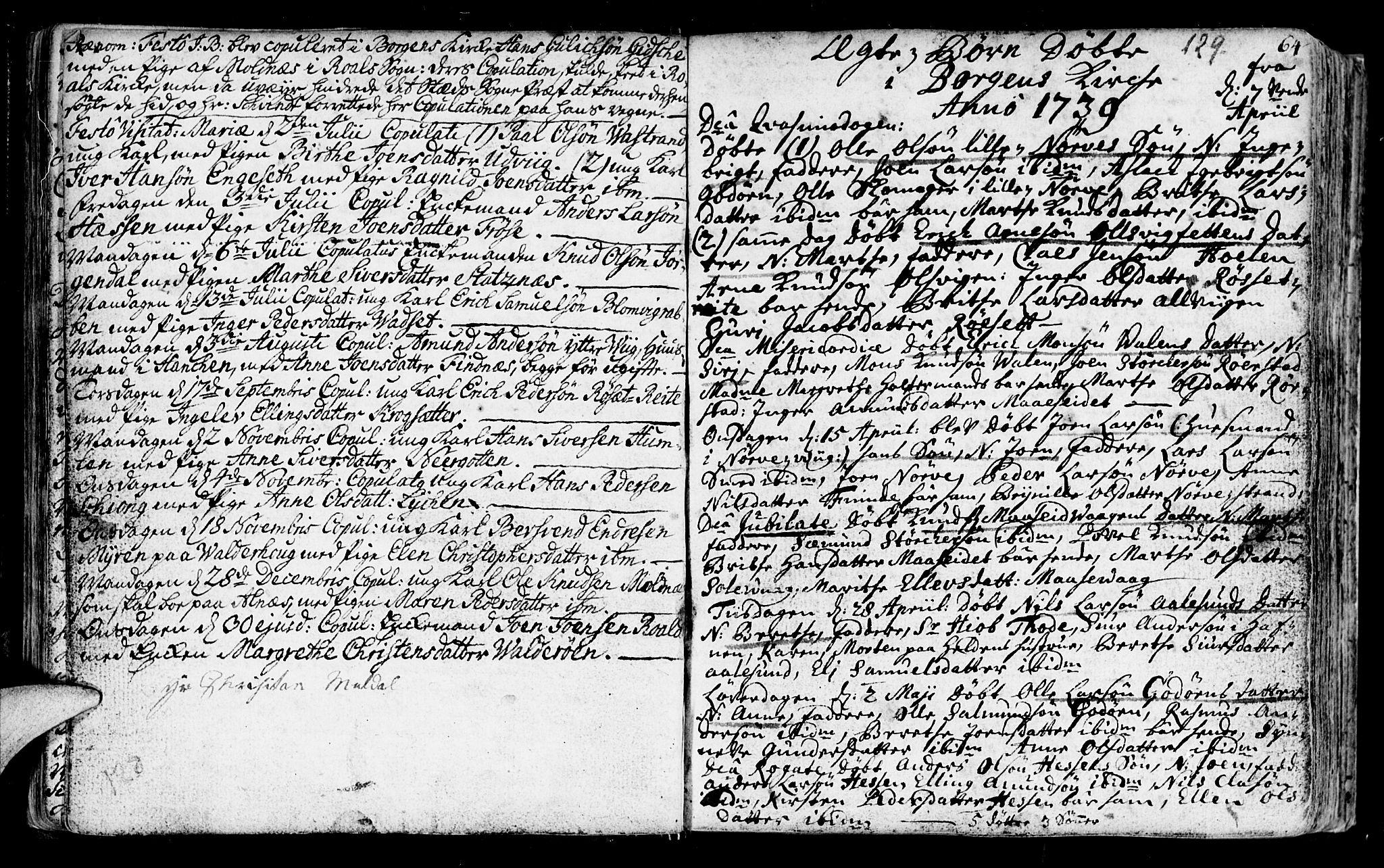 SAT, Ministerialprotokoller, klokkerbøker og fødselsregistre - Møre og Romsdal, 528/L0391: Parish register (official) no. 528A02, 1739-1761