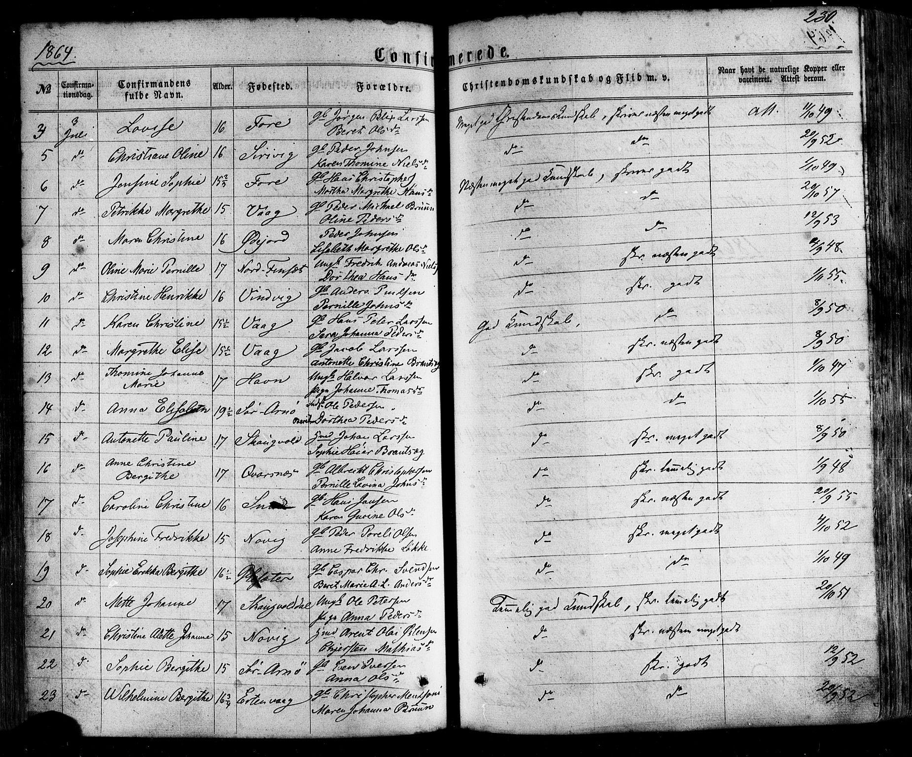 SAT, Ministerialprotokoller, klokkerbøker og fødselsregistre - Nordland, 805/L0098: Parish register (official) no. 805A05, 1862-1879, p. 230