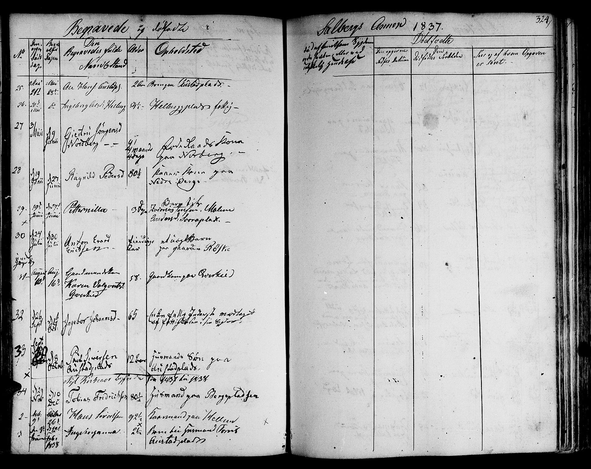 SAT, Ministerialprotokoller, klokkerbøker og fødselsregistre - Nord-Trøndelag, 730/L0277: Ministerialbok nr. 730A06 /2, 1831-1839, s. 324