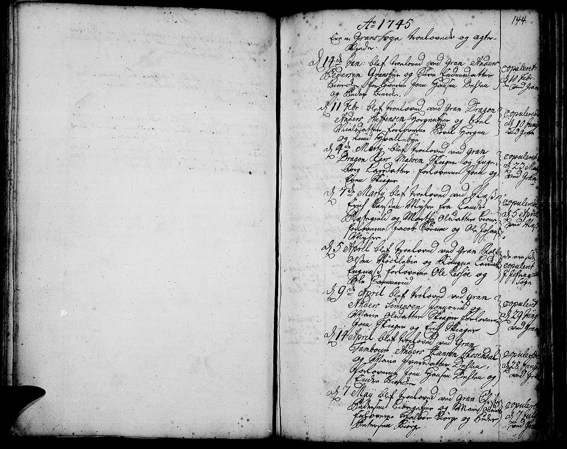SAH, Gran prestekontor, Ministerialbok nr. 3, 1745-1758, s. 144