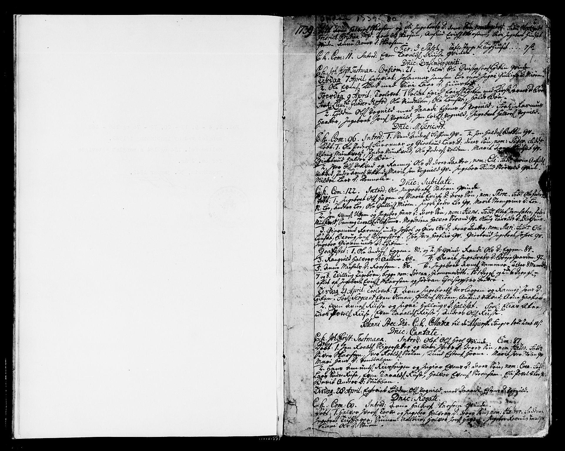 SAT, Ministerialprotokoller, klokkerbøker og fødselsregistre - Sør-Trøndelag, 678/L0891: Ministerialbok nr. 678A01, 1739-1780, s. 2