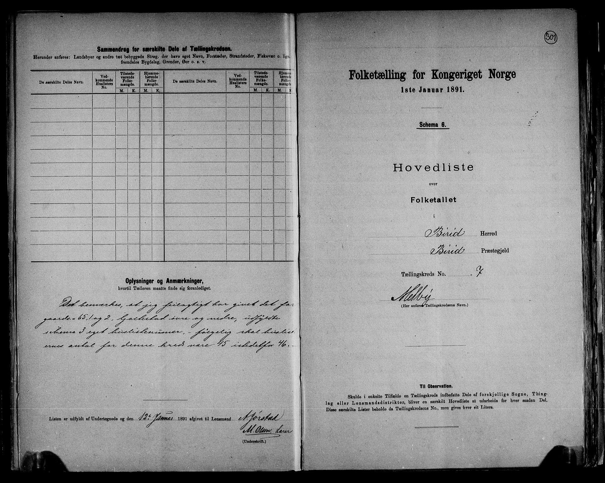 RA, Folketelling 1891 for 0525 Biri herred, 1891, s. 18