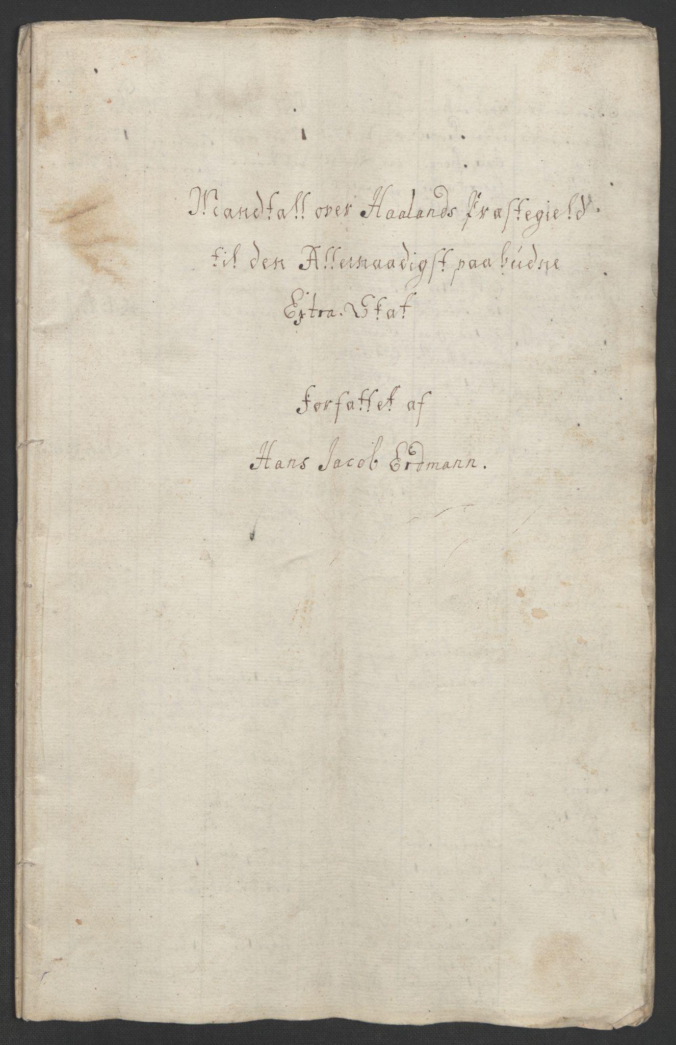 RA, Rentekammeret inntil 1814, Realistisk ordnet avdeling, Ol/L0015: [Gg 10]: Ekstraskatten, 23.09.1762. Stavanger by, Jæren og Dalane, Bergen, 1762-1764, s. 25