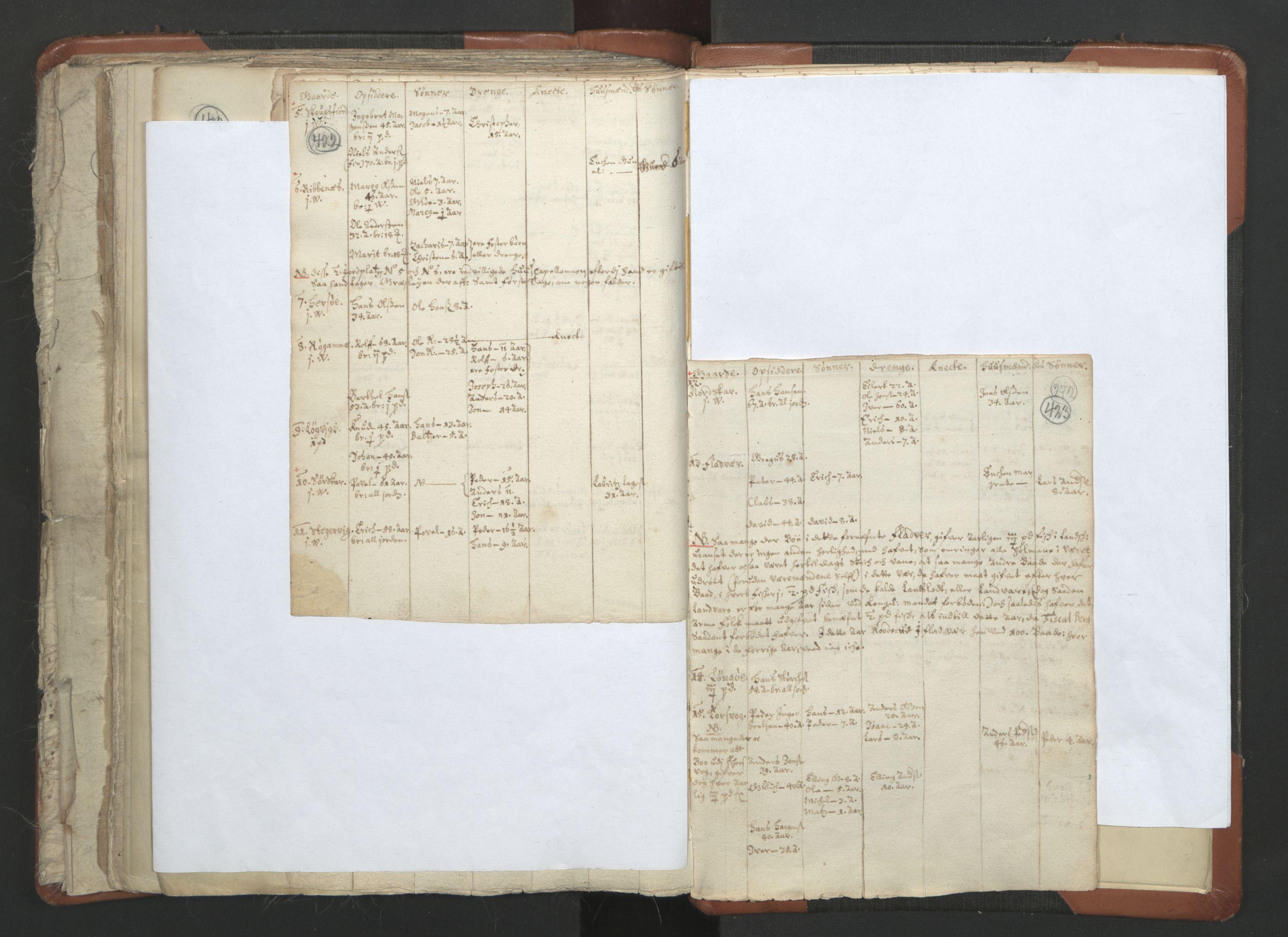 RA, Sogneprestenes manntall 1664-1666, nr. 36: Lofoten og Vesterålen prosti, Senja prosti og Troms prosti, 1664-1666, s. 422-423