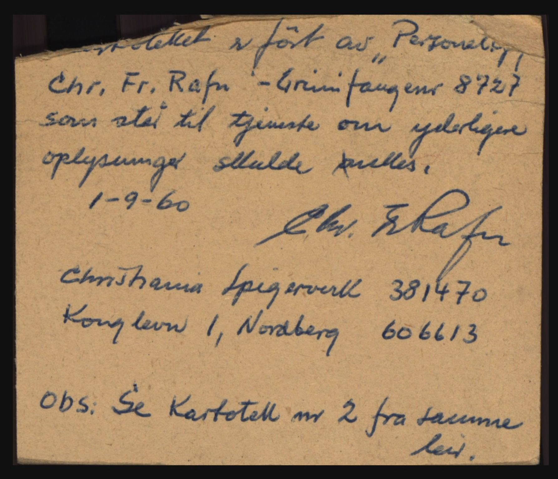 RA, Politiets overvåkningstjeneste, D/Df/L0005: Fangekartotek fra Bardufoss. Fanger overført fra Grini, Falstad og Tromsdalen I, 1944-1945
