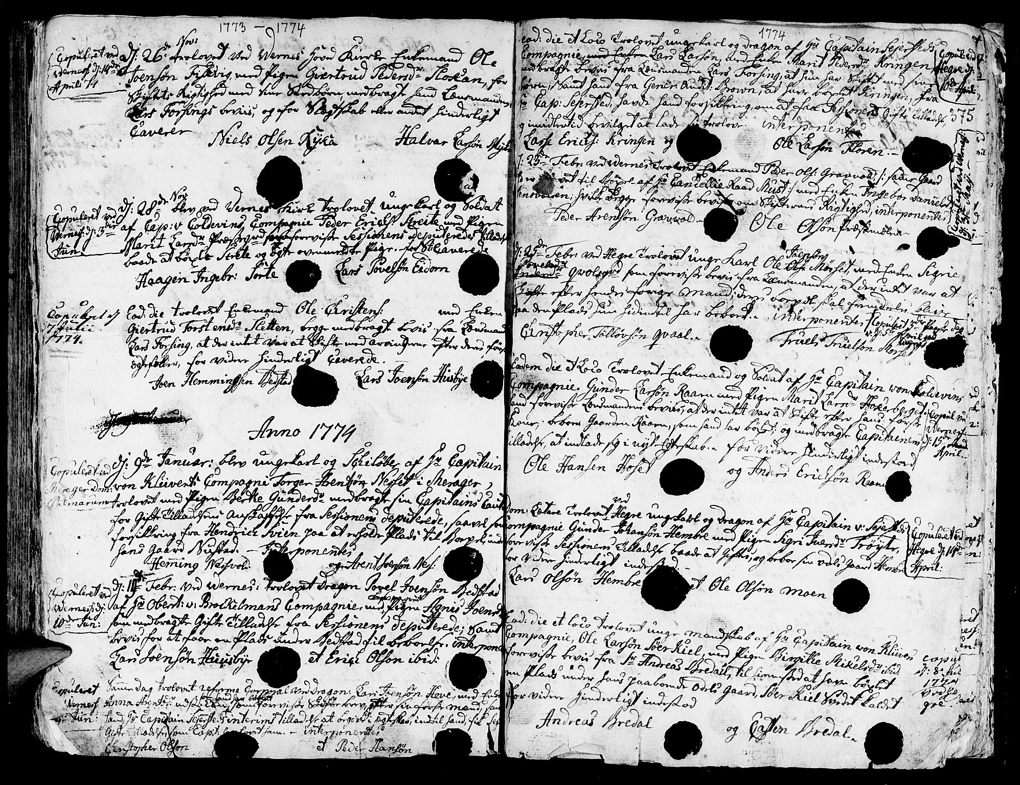 SAT, Ministerialprotokoller, klokkerbøker og fødselsregistre - Nord-Trøndelag, 709/L0057: Ministerialbok nr. 709A05, 1755-1780, s. 375