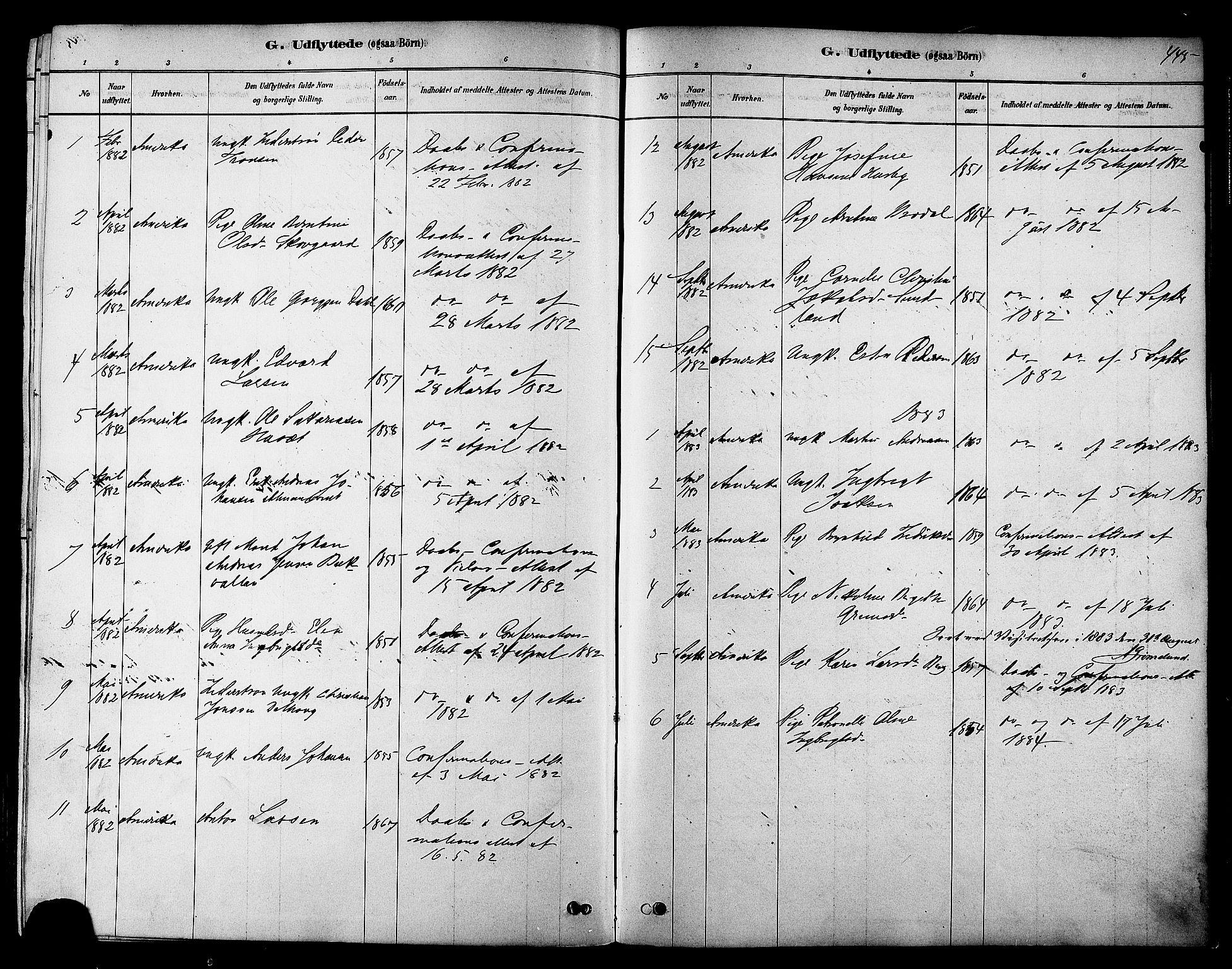 SAT, Ministerialprotokoller, klokkerbøker og fødselsregistre - Sør-Trøndelag, 606/L0294: Ministerialbok nr. 606A09, 1878-1886, s. 445