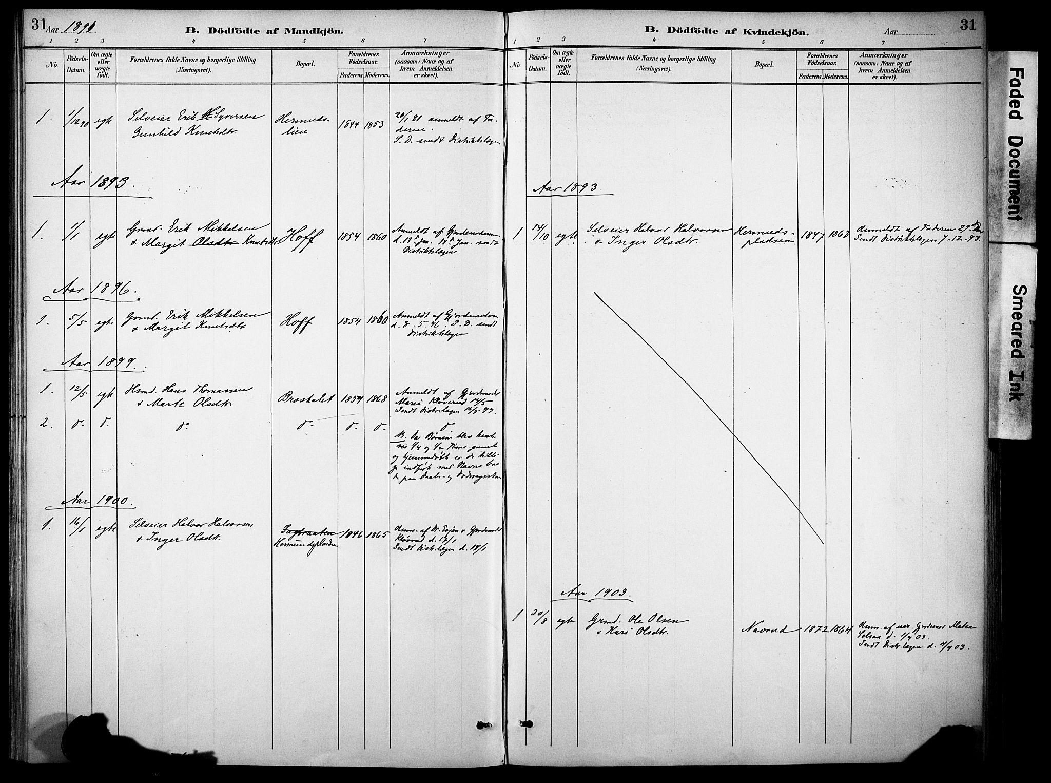 SAH, Sør-Aurdal prestekontor, Ministerialbok nr. 10, 1886-1906, s. 31