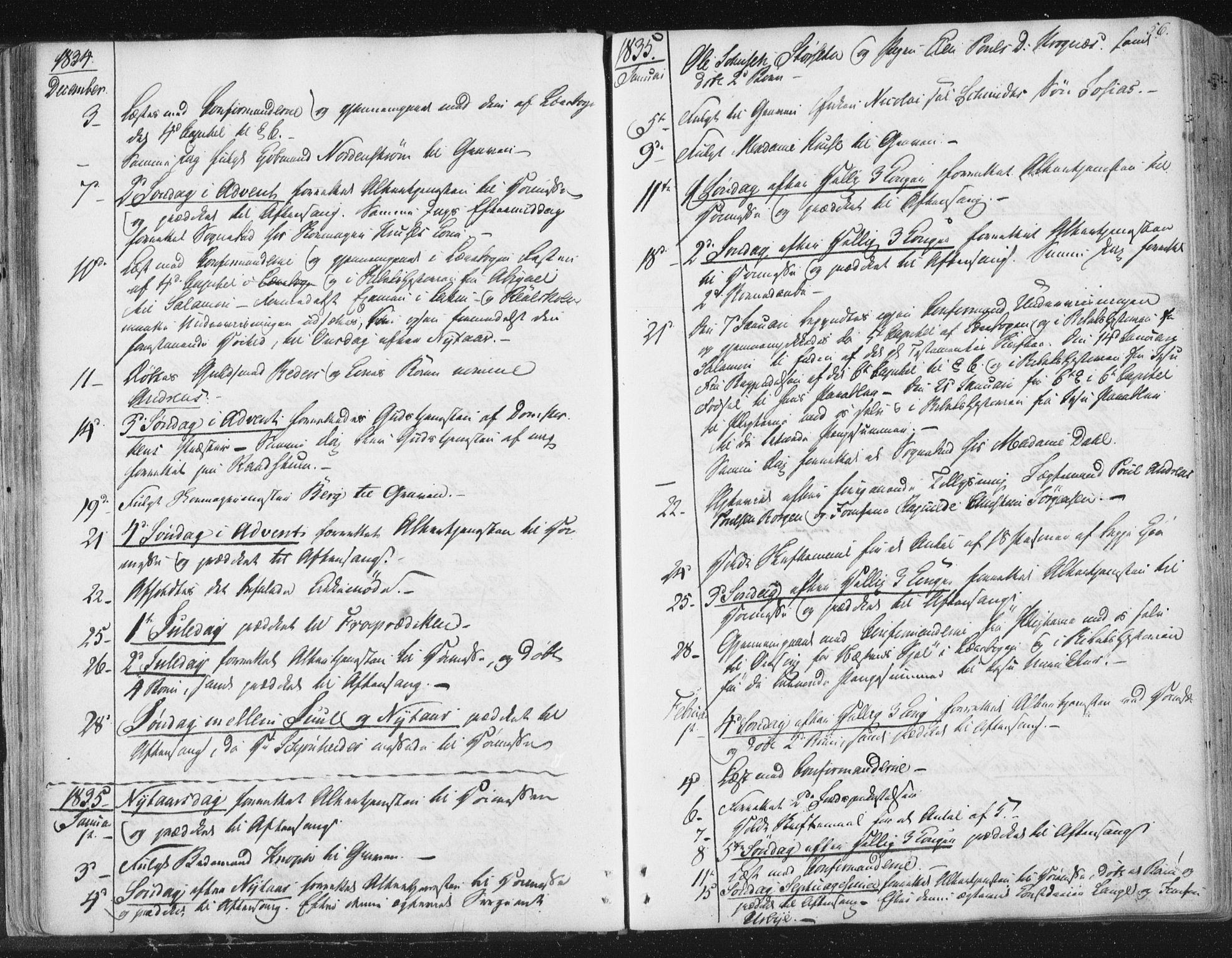 SAT, Ministerialprotokoller, klokkerbøker og fødselsregistre - Sør-Trøndelag, 602/L0127: Residerende kapellans bok nr. 602B01, 1821-1875, s. 56