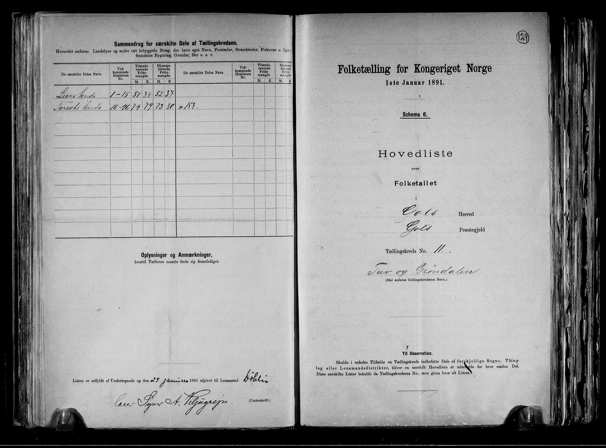 RA, Folketelling 1891 for 0617 Gol og Hemsedal herred, 1891, s. 24