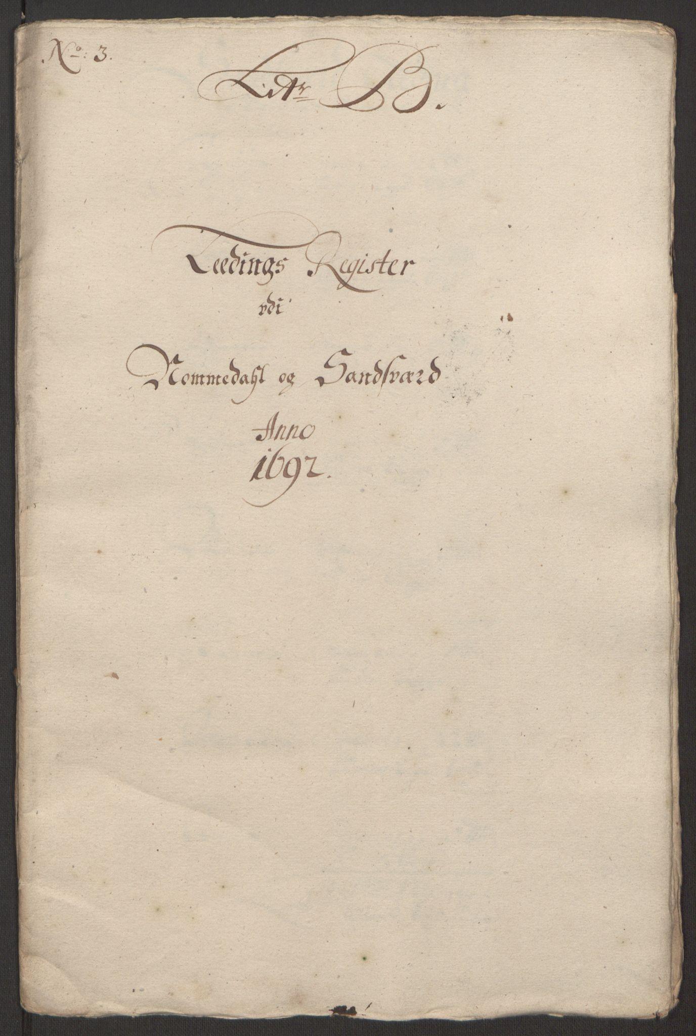 RA, Rentekammeret inntil 1814, Reviderte regnskaper, Fogderegnskap, R24/L1575: Fogderegnskap Numedal og Sandsvær, 1692-1695, s. 54