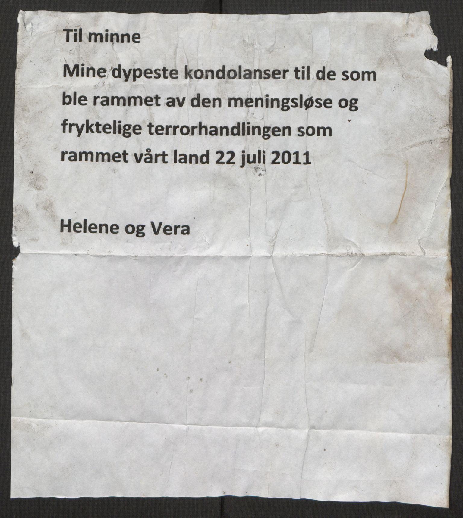 RA, Minnemateriale etter 22.07.2011, 2011, s. 402