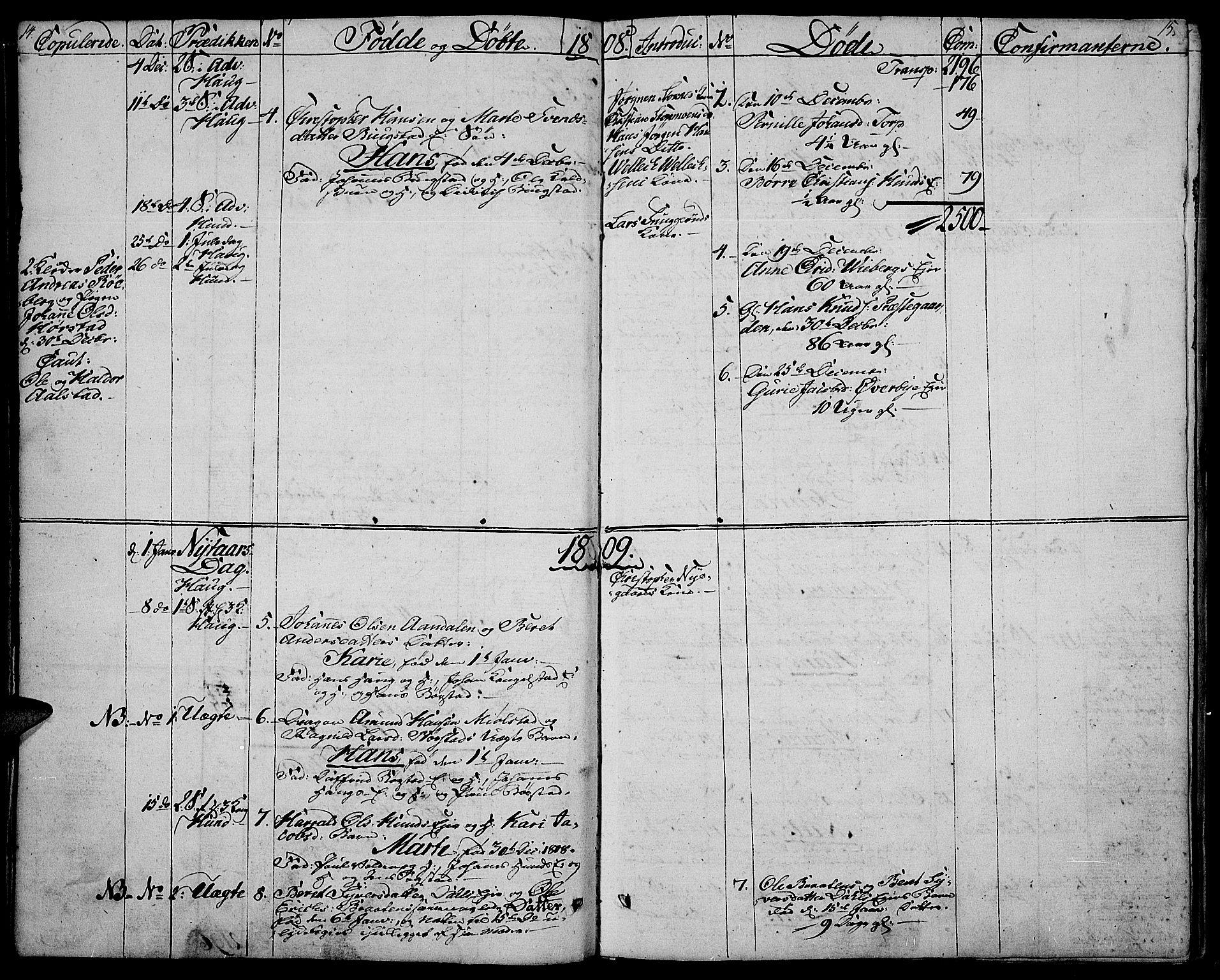 SAH, Vardal prestekontor, H/Ha/Haa/L0003: Ministerialbok nr. 3, 1808-1814, s. 14-15