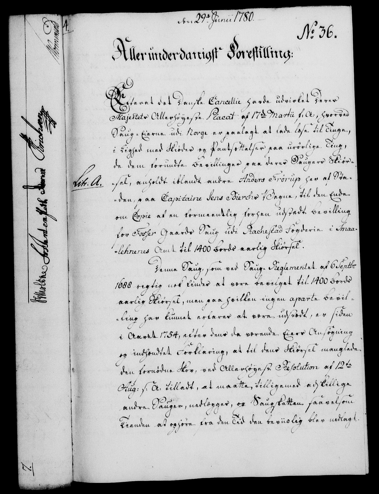 RA, Rentekammeret, Kammerkanselliet, G/Gf/Gfa/L0062: Norsk relasjons- og resolusjonsprotokoll (merket RK 52.62), 1780, s. 349