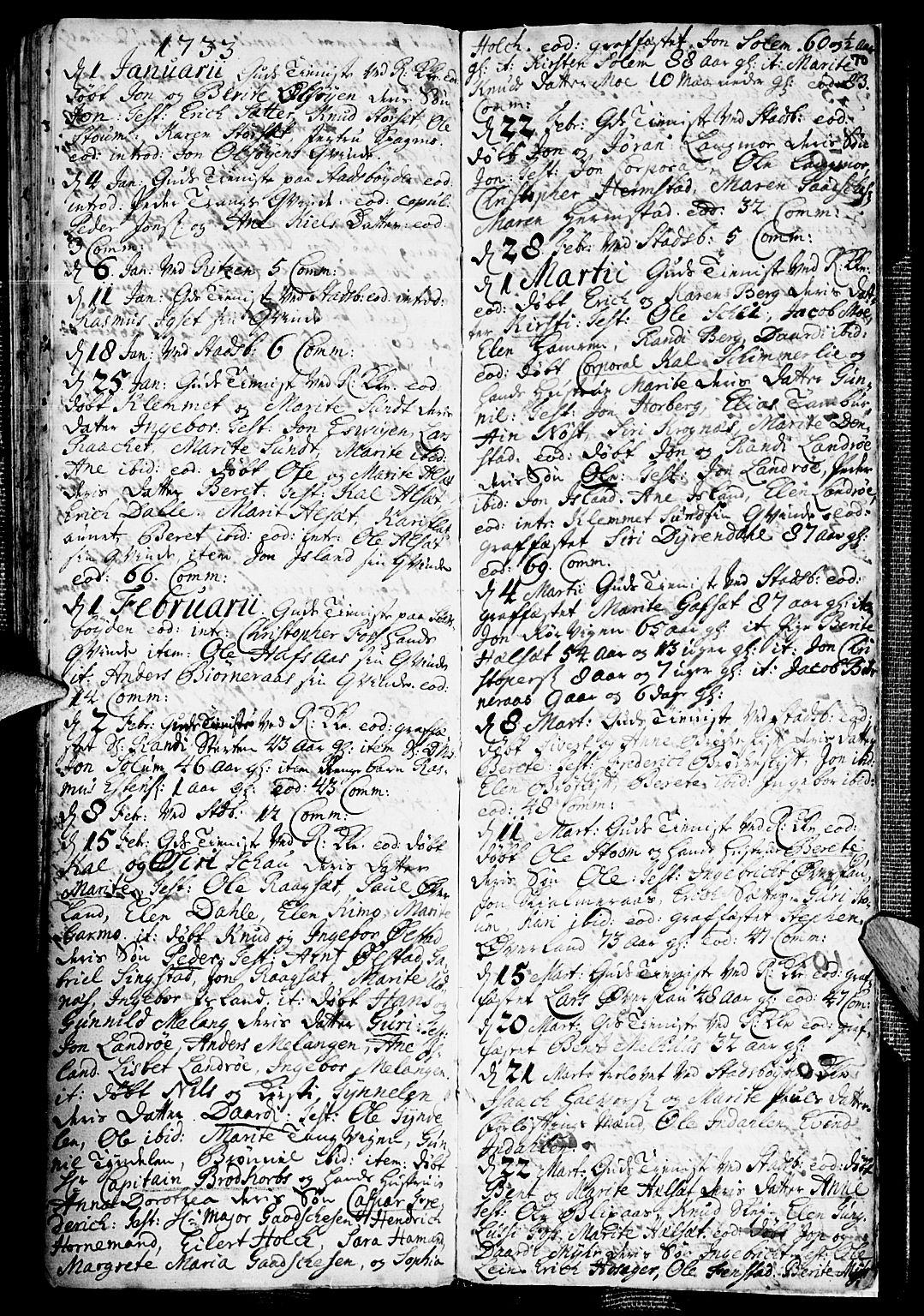 SAT, Ministerialprotokoller, klokkerbøker og fødselsregistre - Sør-Trøndelag, 646/L0603: Ministerialbok nr. 646A01, 1700-1734, s. 70